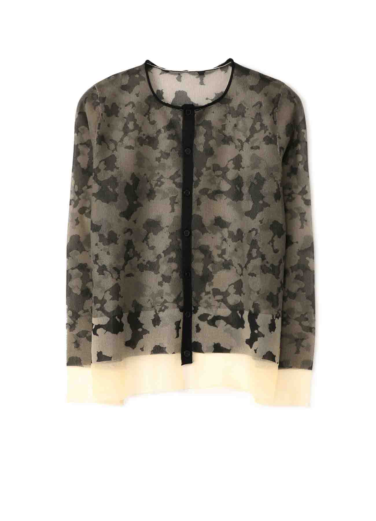 12G1P CAMOFLAGE WJQ RN BUTTON CARDIGAN