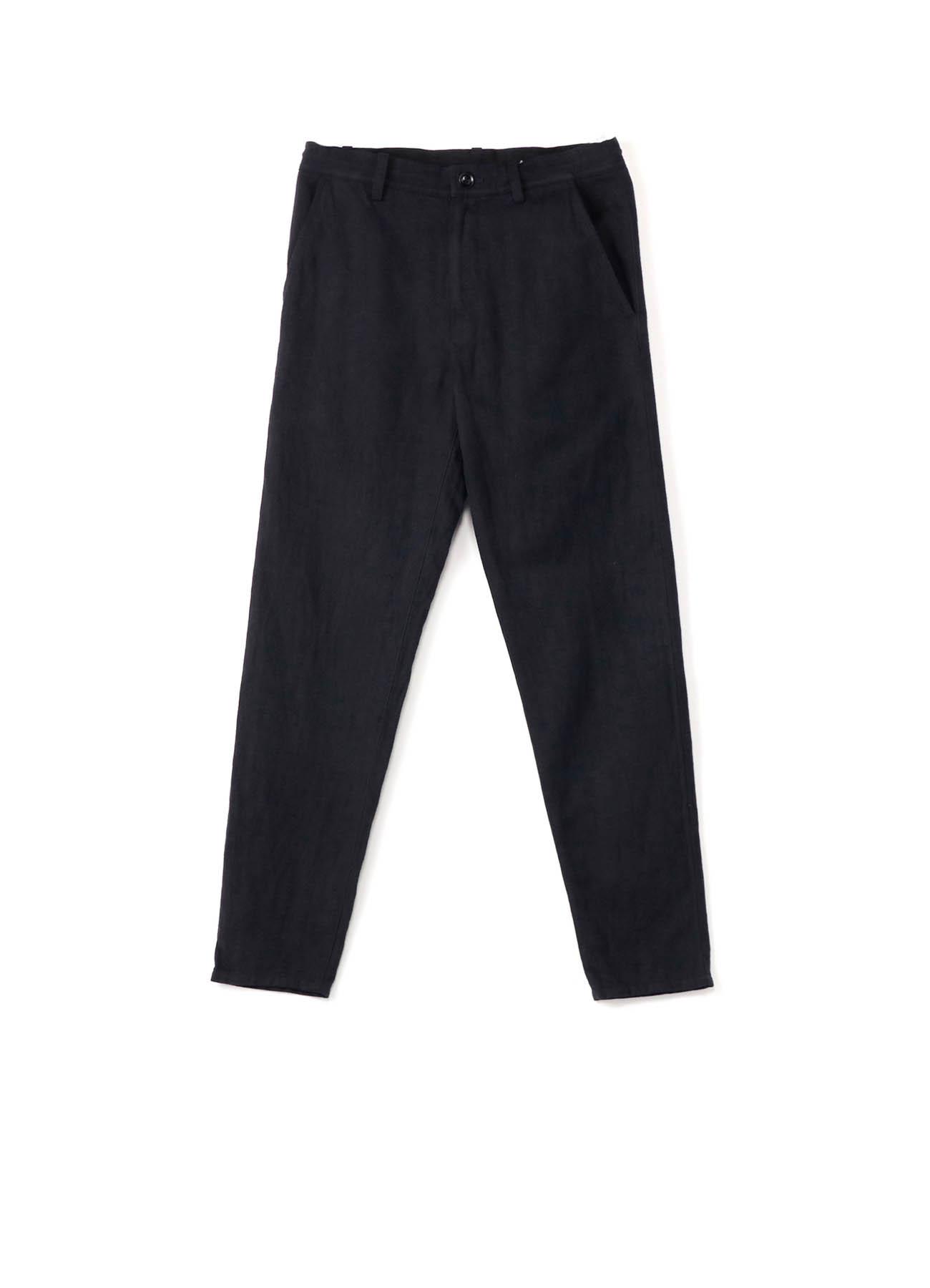 C/Li TOP LOOSE TWILL WAIST LACE SLIM PANTS