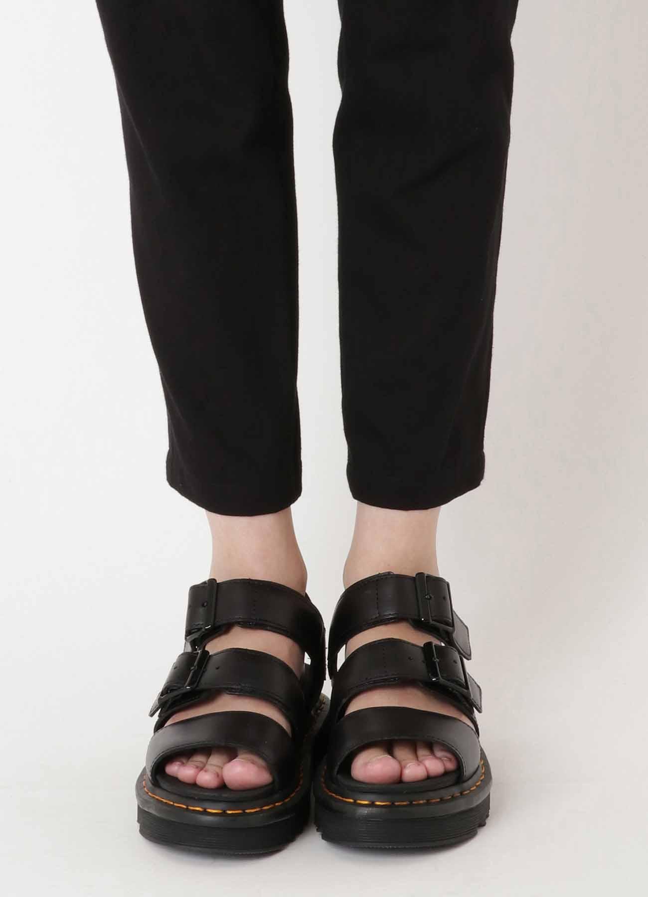 UNEVEN SOFT TWILL SIDE STRIPE SKINNY PANTS