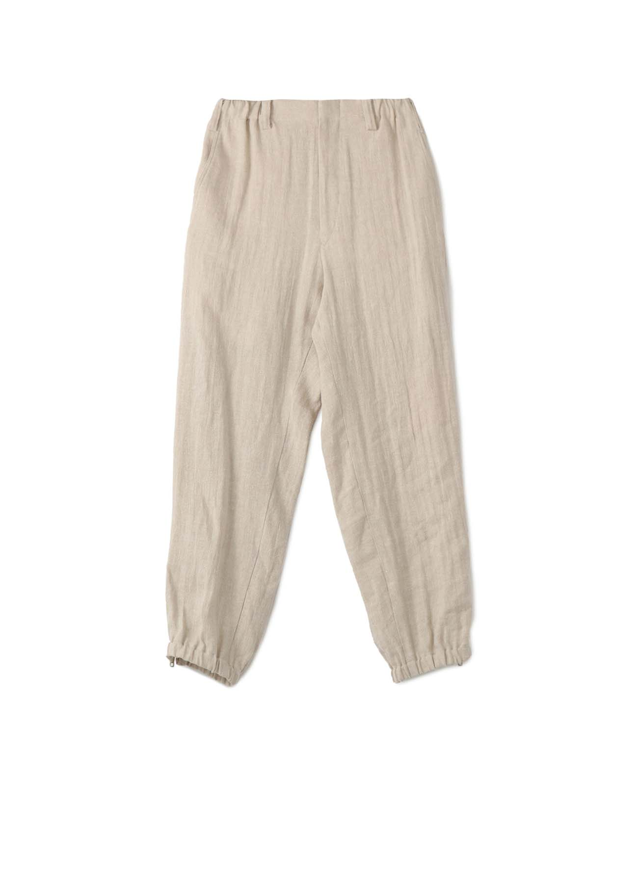 CLASSIC SILK NEP LINEN HERRINGBONE SIDE STRIPE PANTS