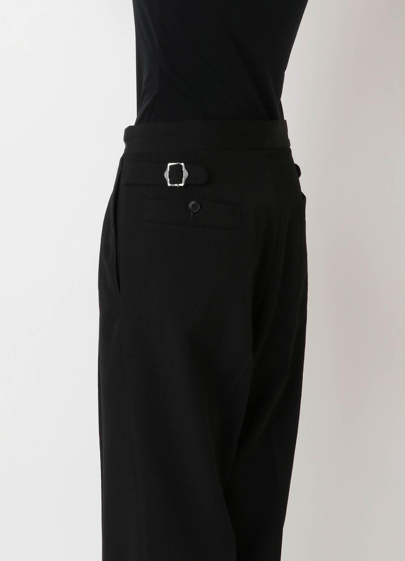 DRY-WASHER GABARDINE TUCK PANTS
