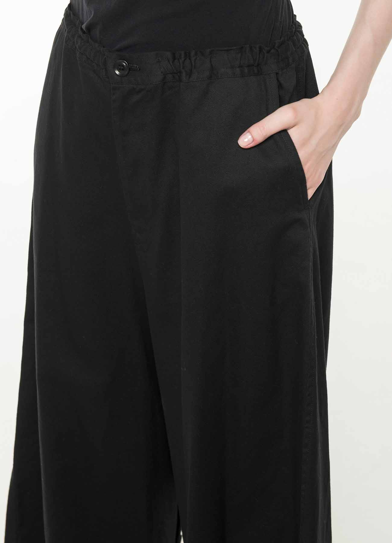 TWILL CROTCH BUTTON OPEN PANTS