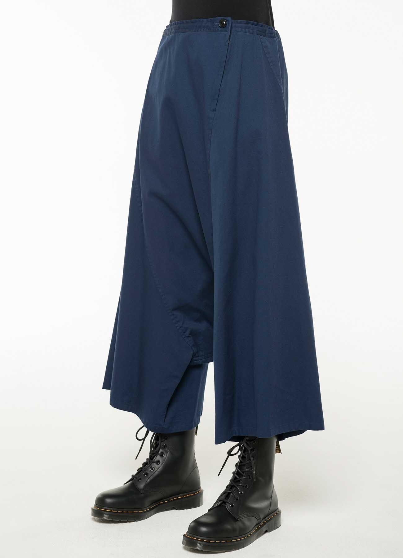 TWILL WAIST LACE SAROUEL PANTS