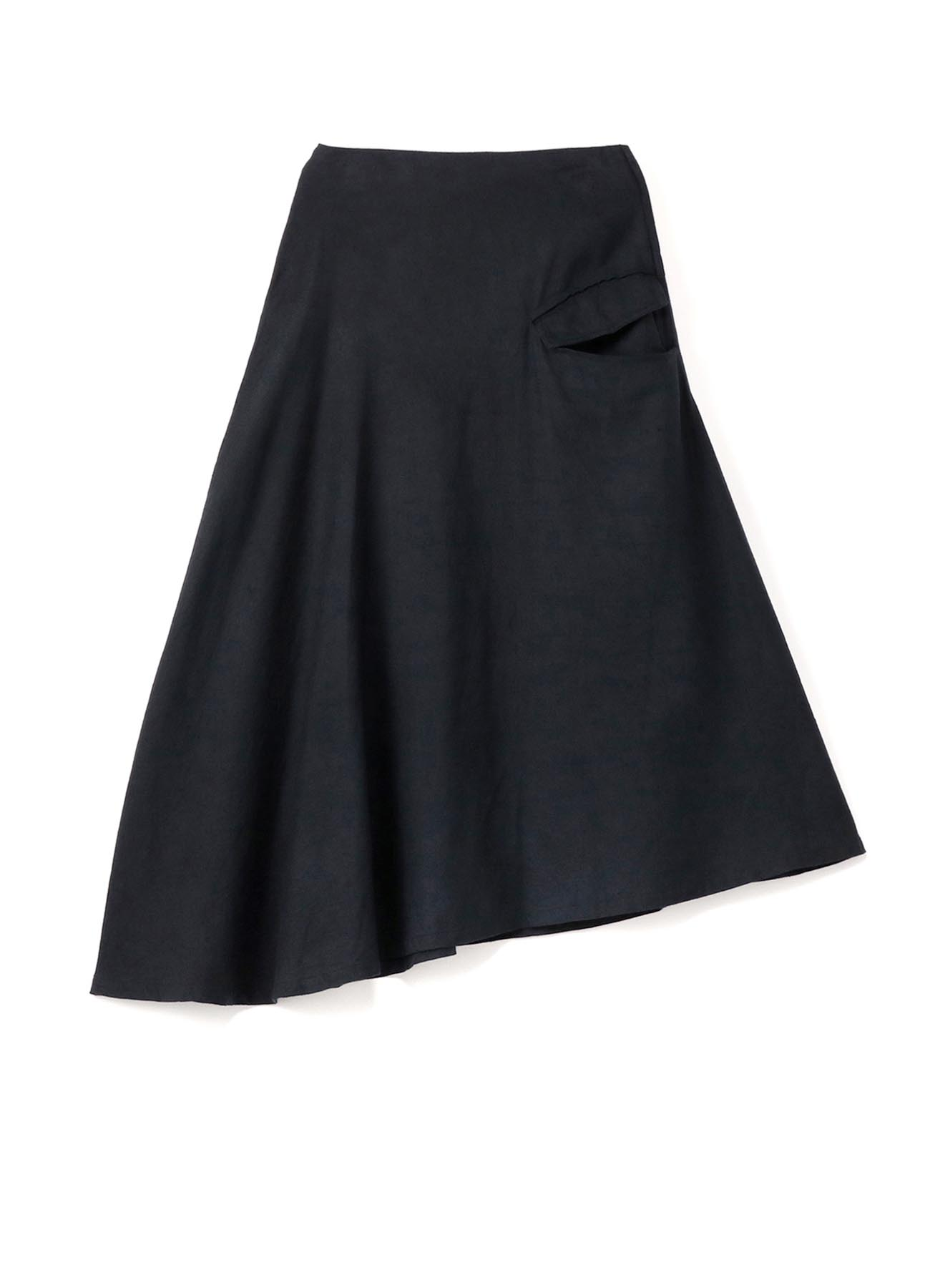 C/Li TOP LOOSE TWILL ASYMMETRY FLARED SKIRT