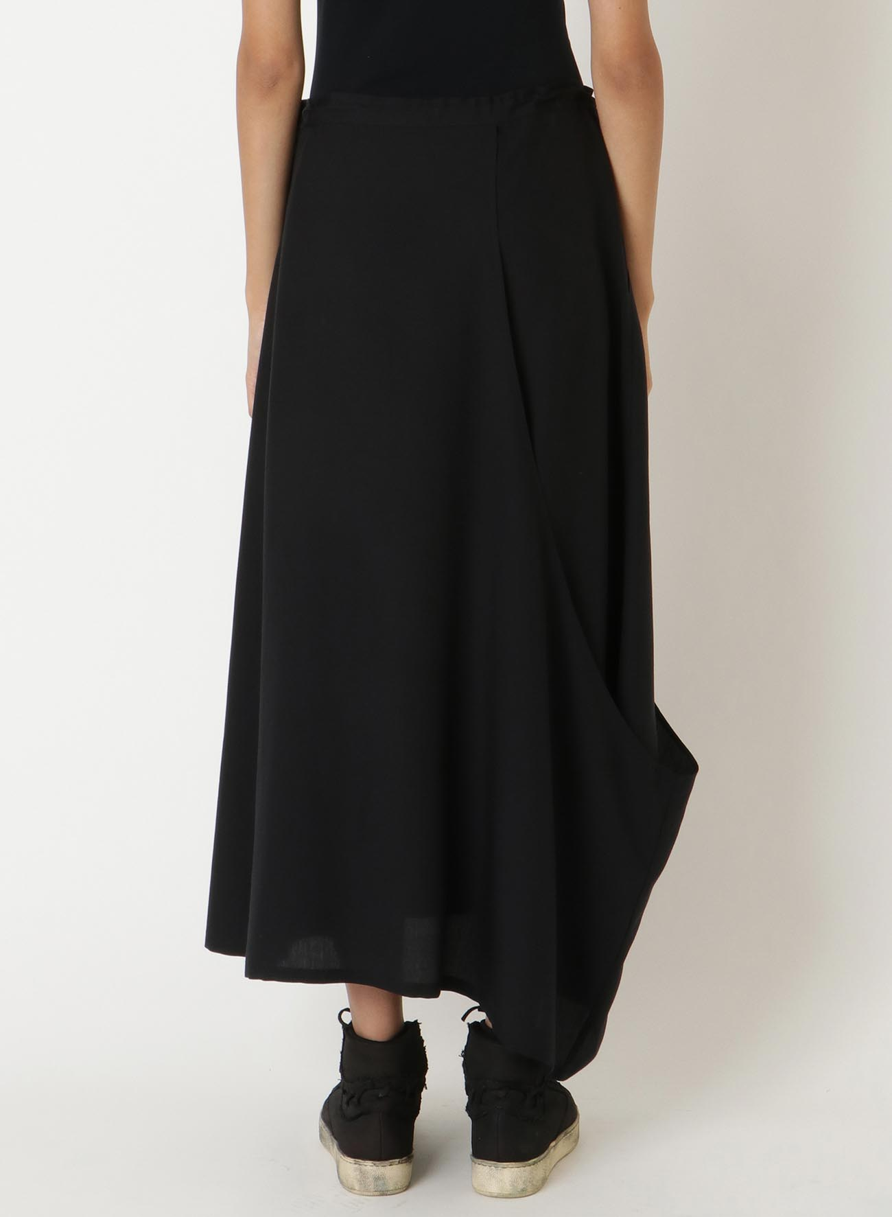Te/POPLIN ASYMMETRY RIGHT FLASH SKIRT