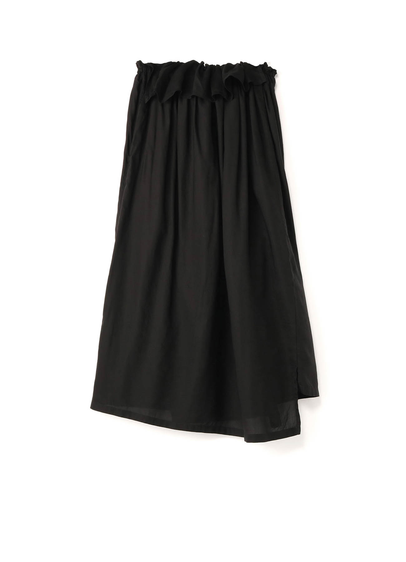 Cu/SPAN TWILL PR DYE ELASTIC GATHER SKIRT