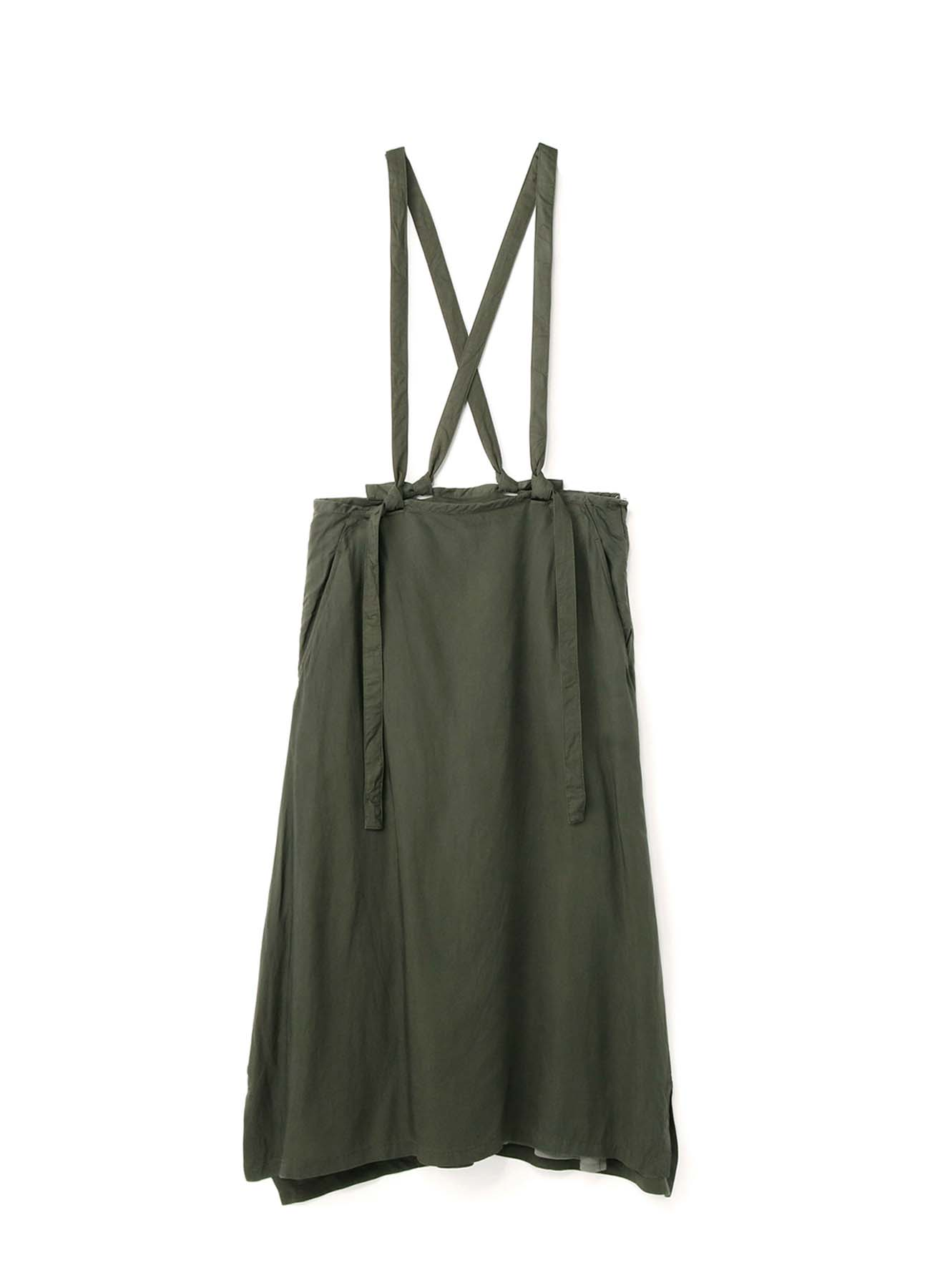 Cu/SPAN TWILL PR DYE SUSPENDERS FLARED SKIRT