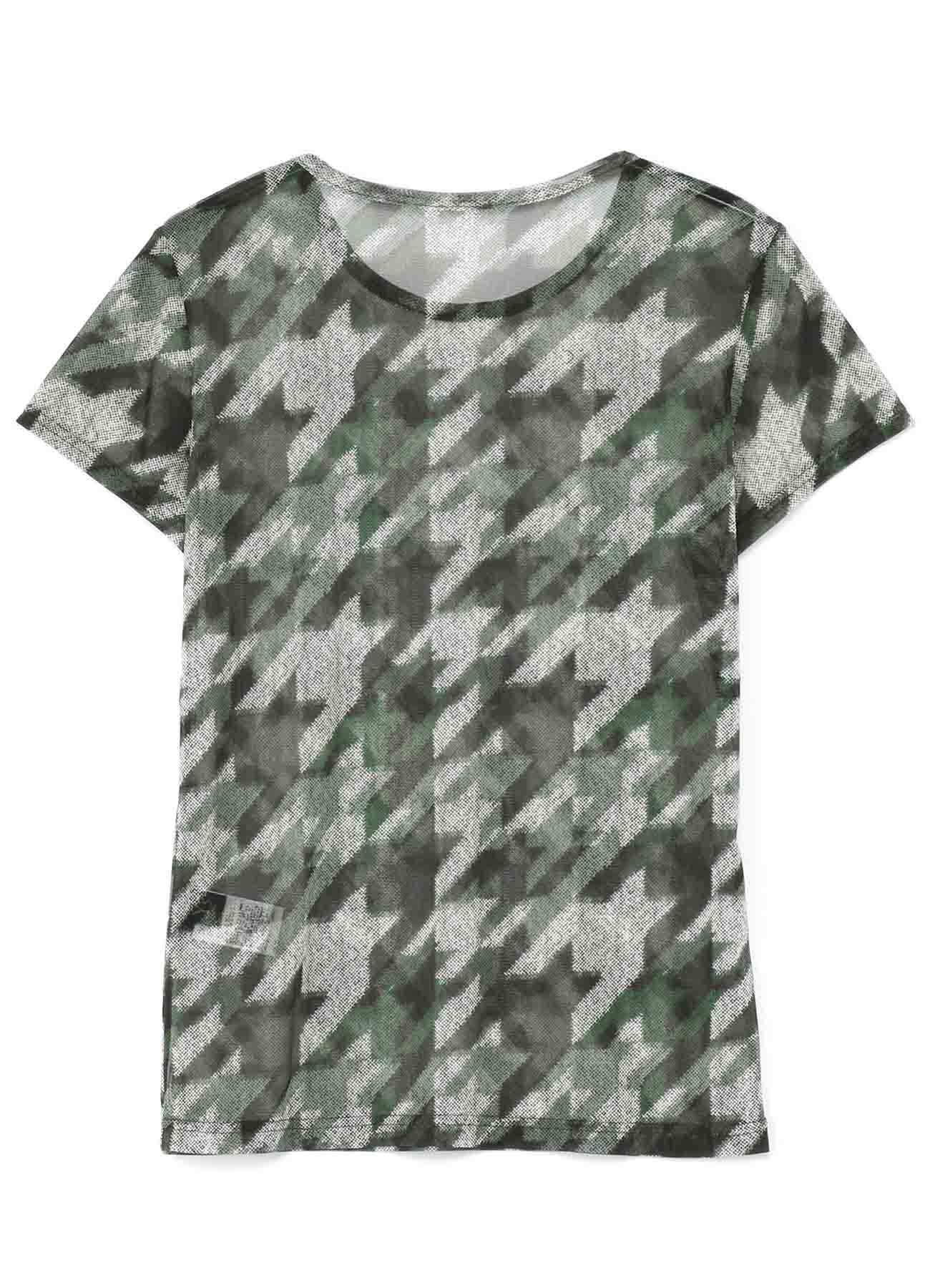 Pe TULLE HOUNSTOOTH CHECK PRINT TULLE SHORT SLEEVE T