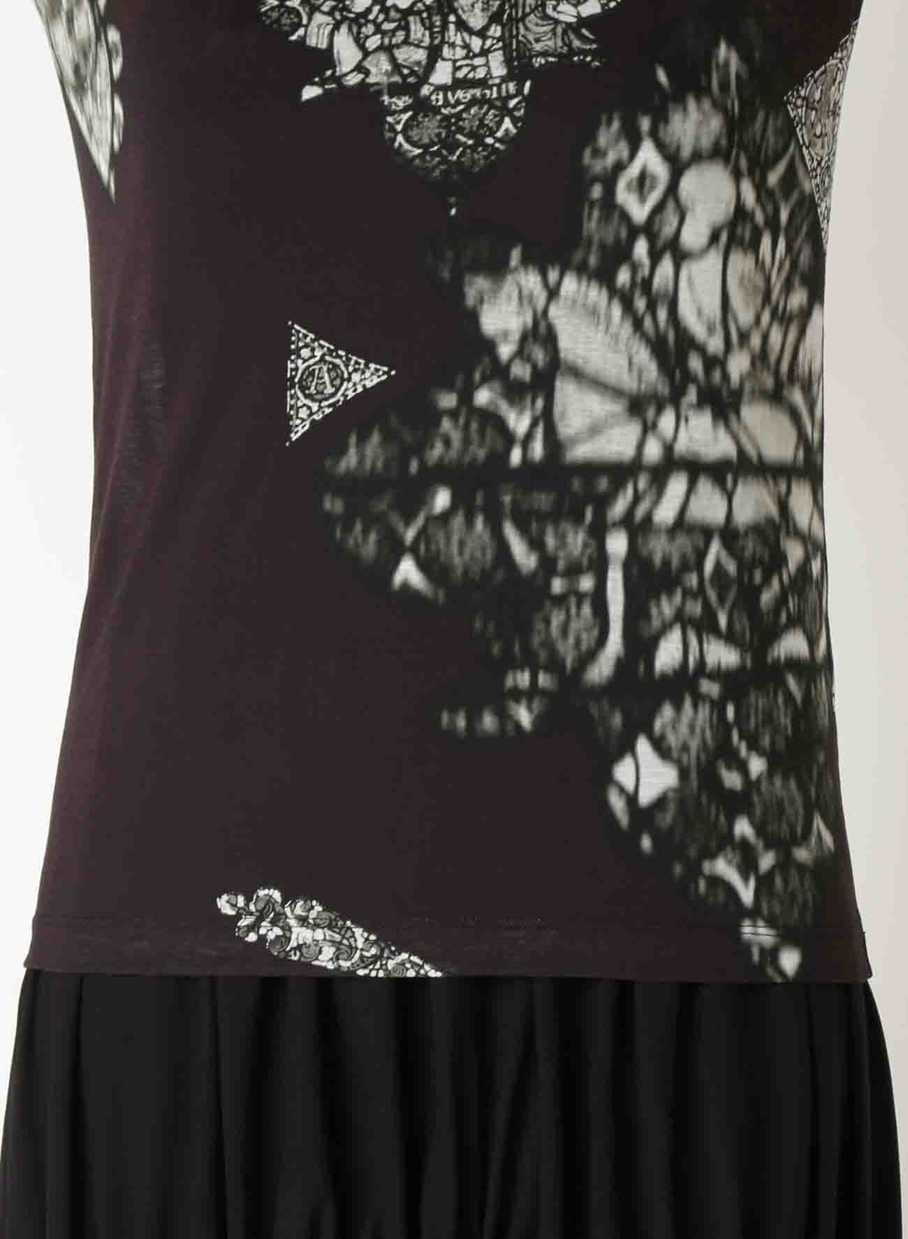 60/- PS DISTORTED STAINED G P ROUND NECK SHORT SLEEVE
