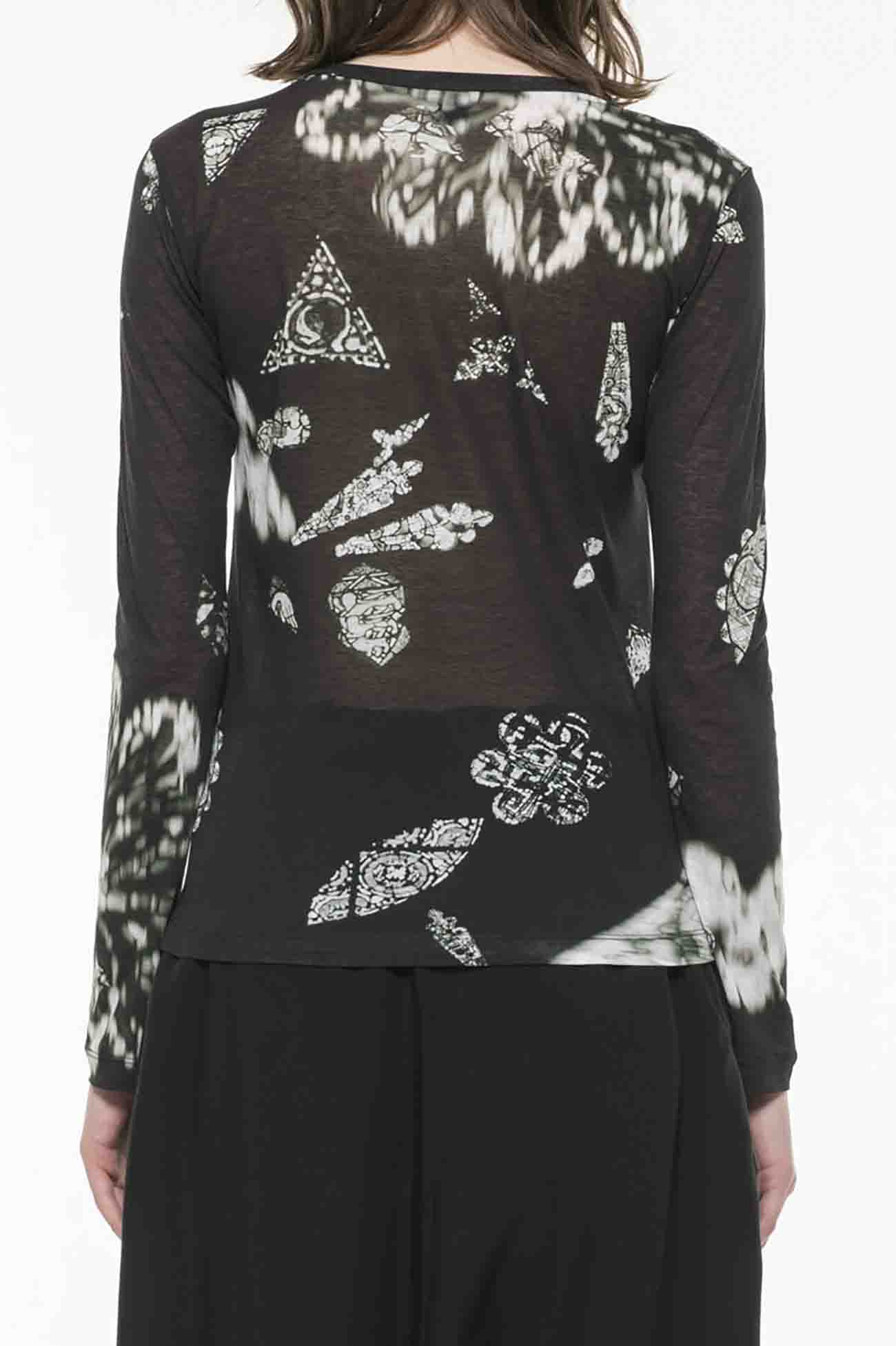 60/- PS DISTORTED STAINED G P ROUND NECK LONG SLEEVE