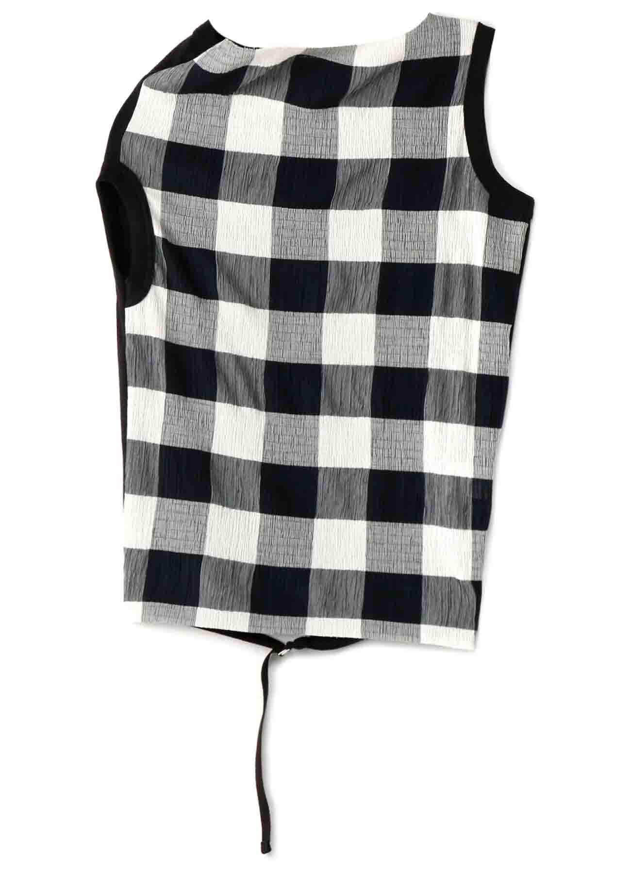 GINGHAM SHIRRING x 30/- OFF NECK T