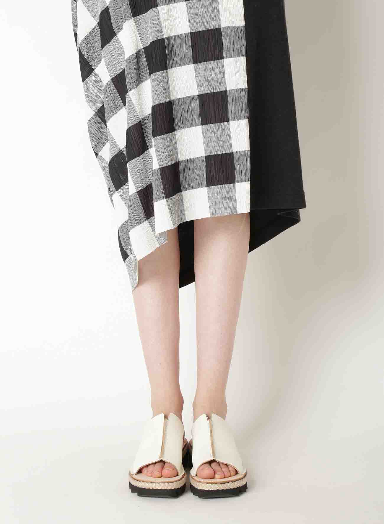 GINGHAM SHIRRING x 30/- DESIGN SKIRT