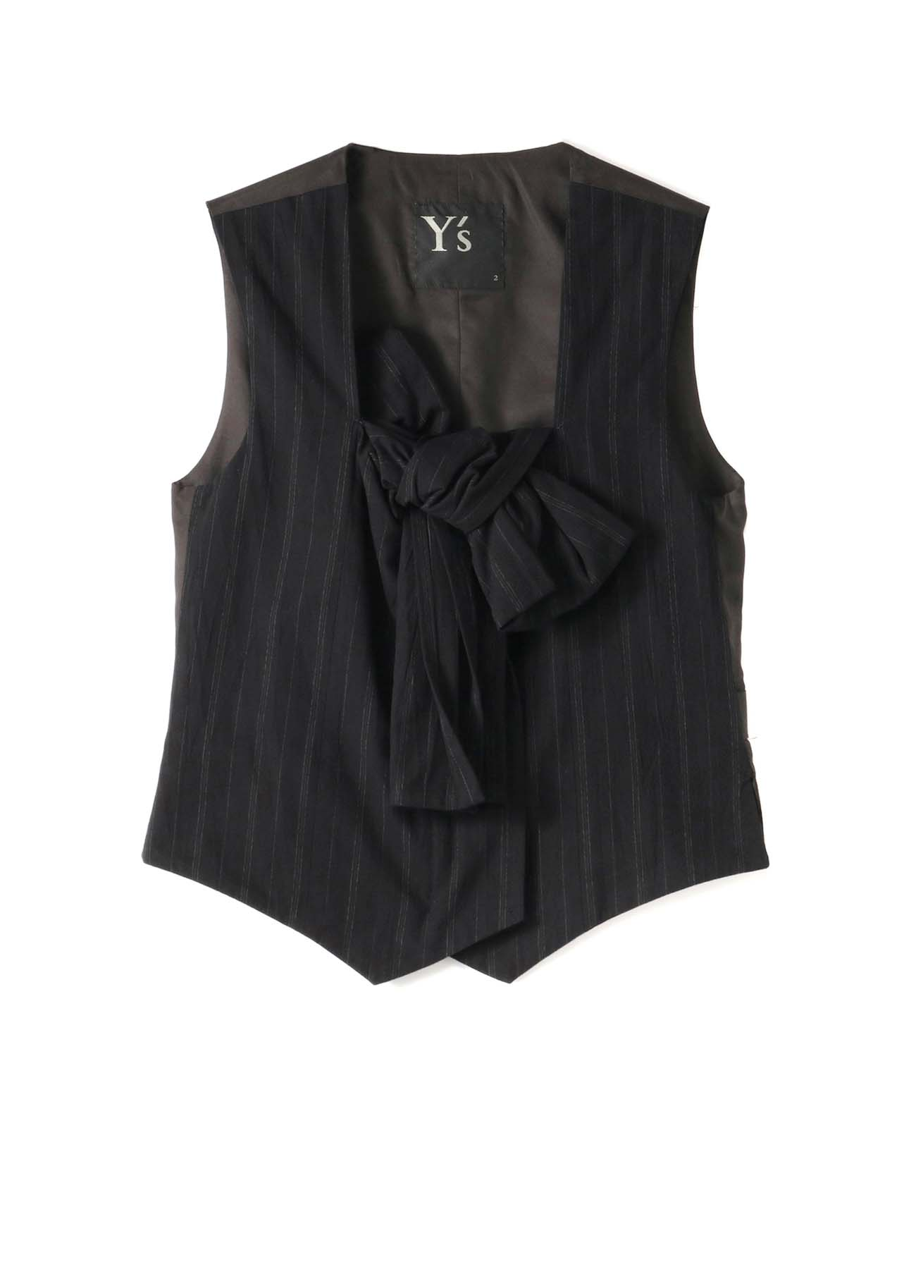 C/STRIPE U-F RIBBON VEST