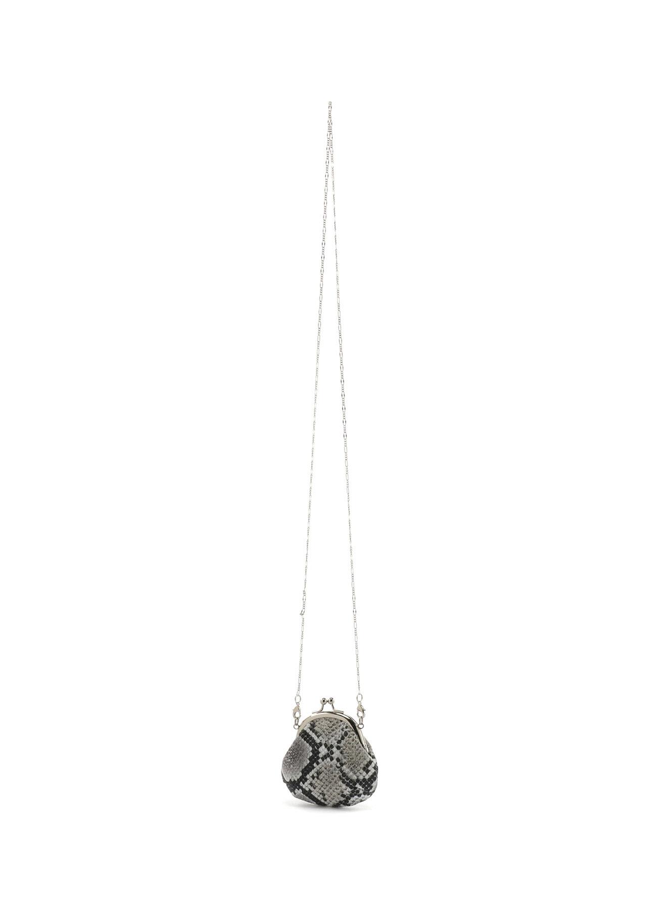 蟒纹皮革经典蛙嘴式项链