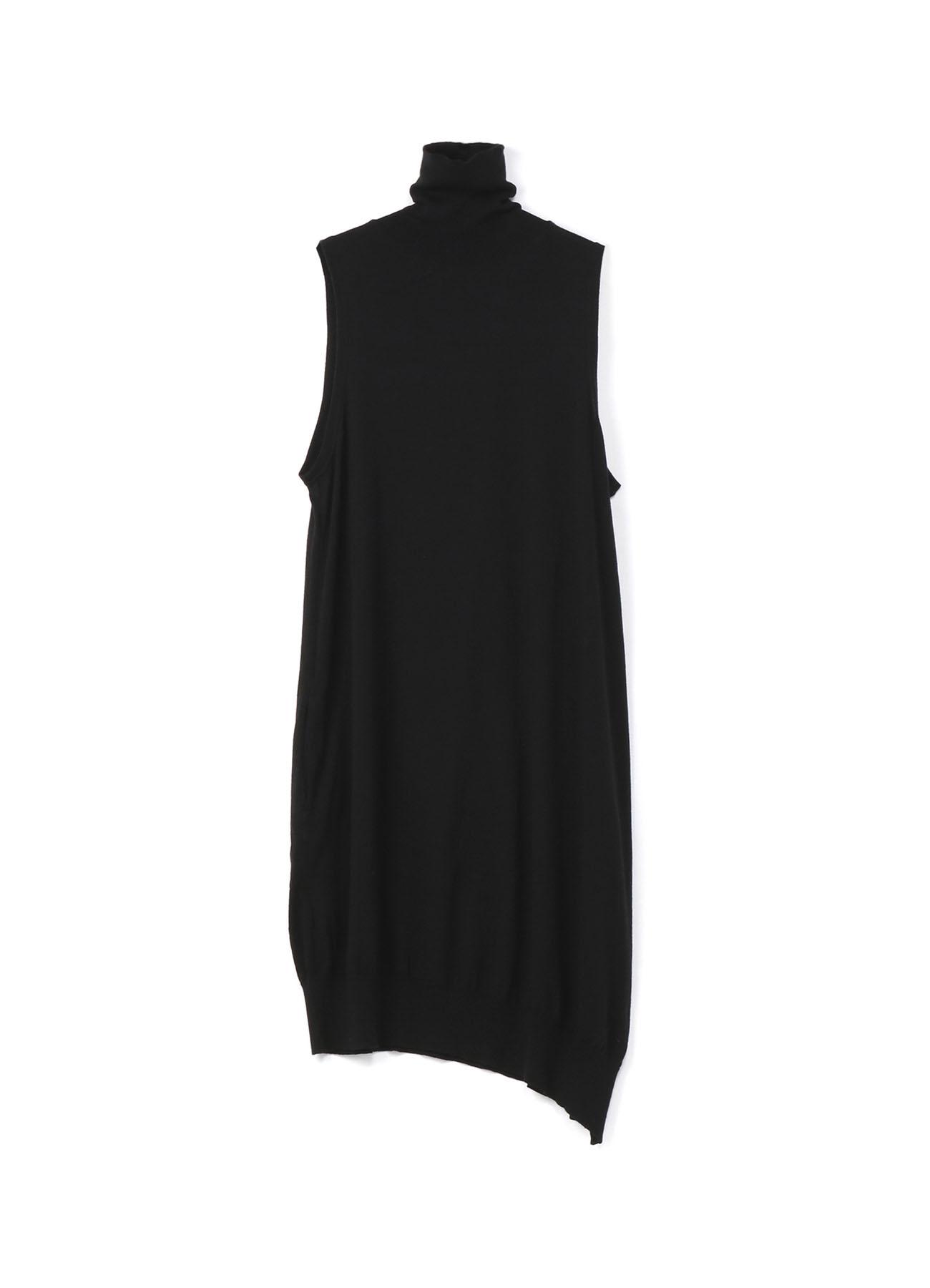 无袖高领针织连衣裙