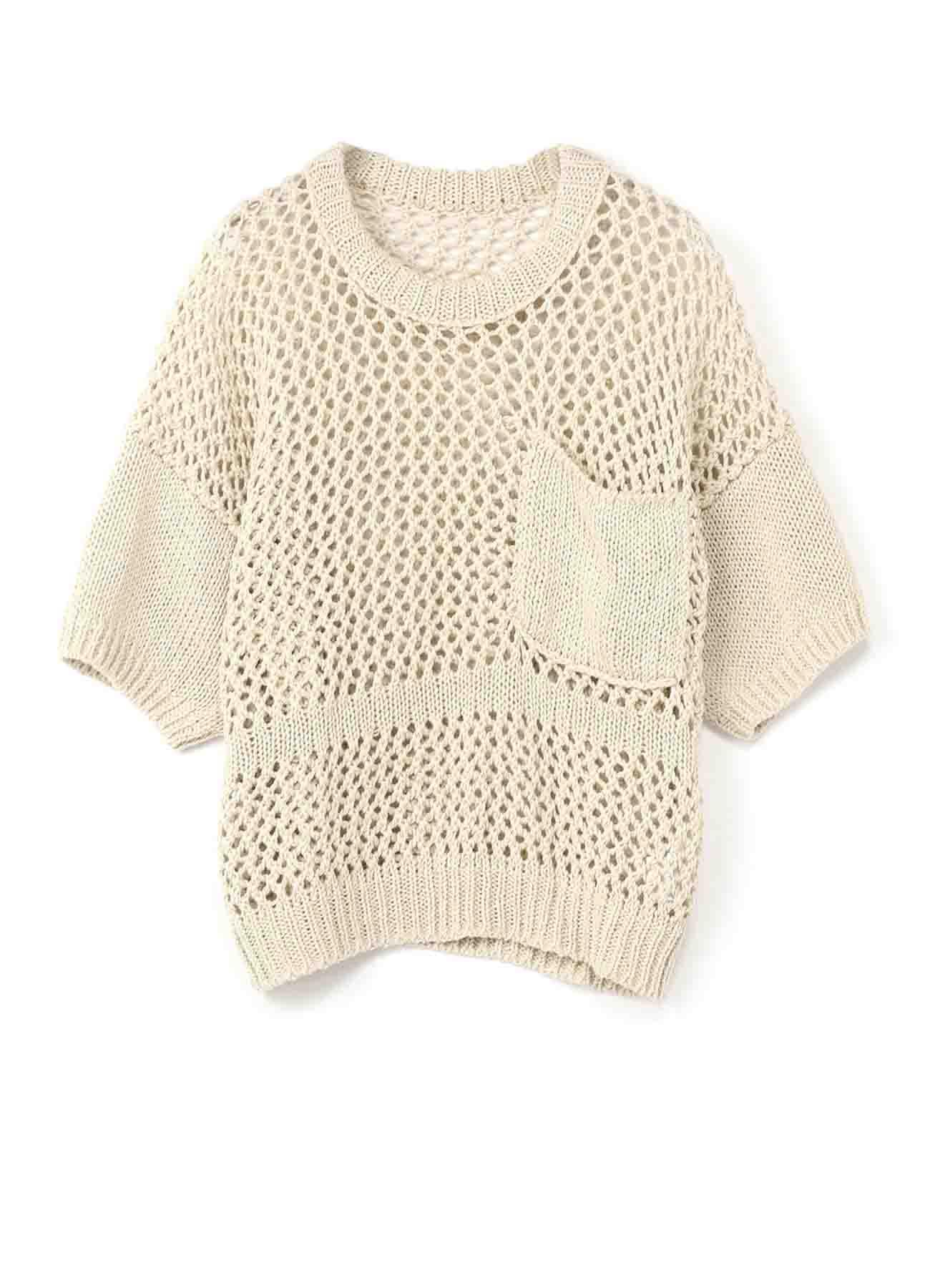 天竺xレース編み ゆったりプルオーバー