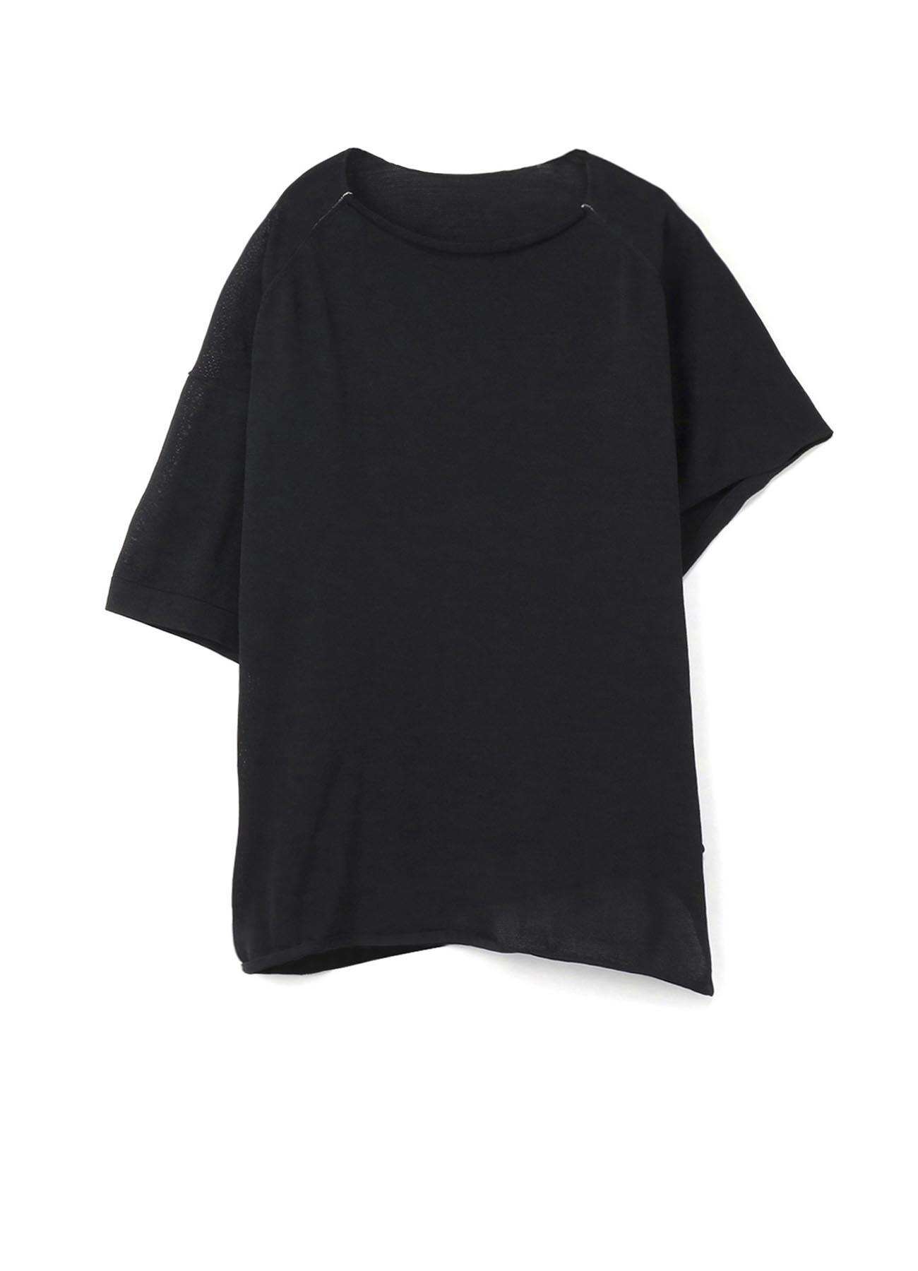 撥水ポリエステル天竺 裾ドレープTシャツ