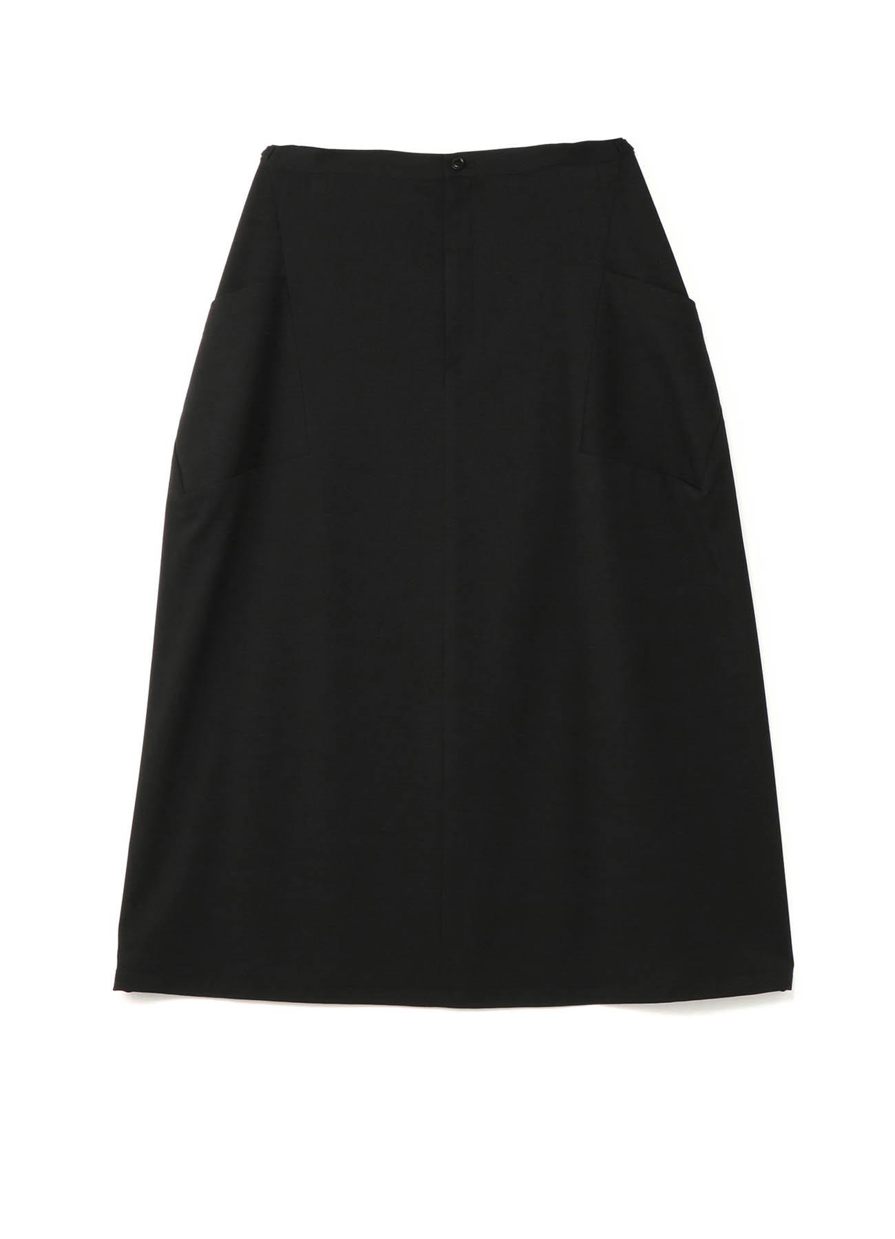 ギャバジンナナメ脇ポケットスカート