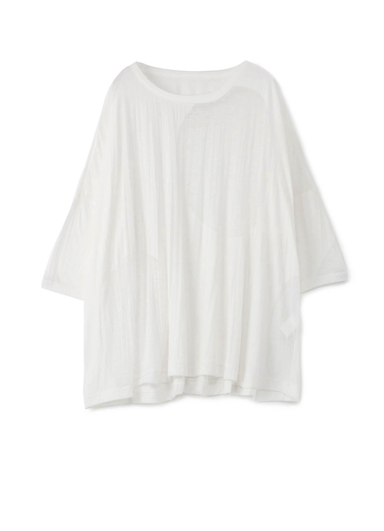 圆点图案褶皱T恤-大版