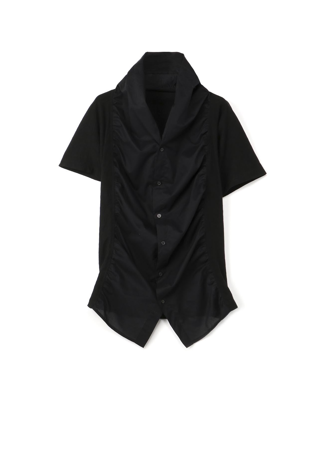 重叠褶皱开襟毛衫