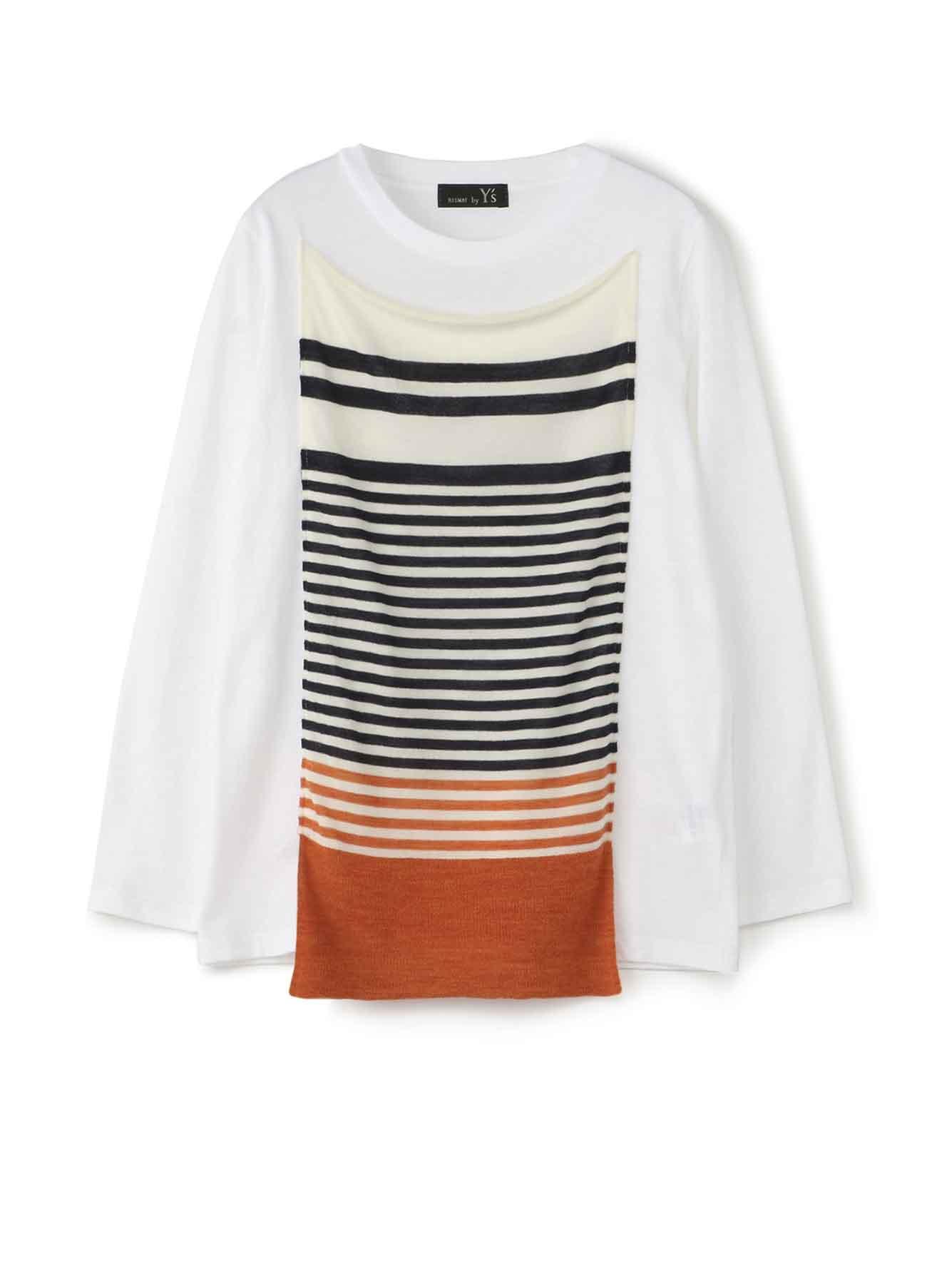 RISMATbyY这款长袖T恤采用棉质针织边框针织