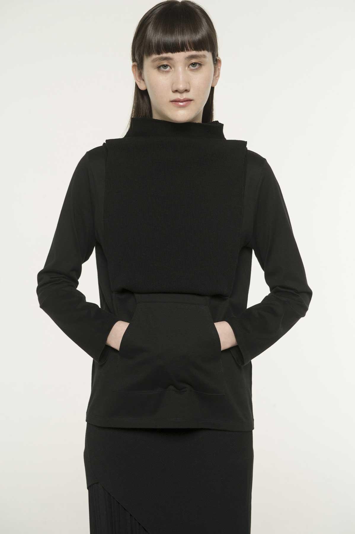 RISMATbyY这款Cotton Tengu长袖T恤采用围裙针织