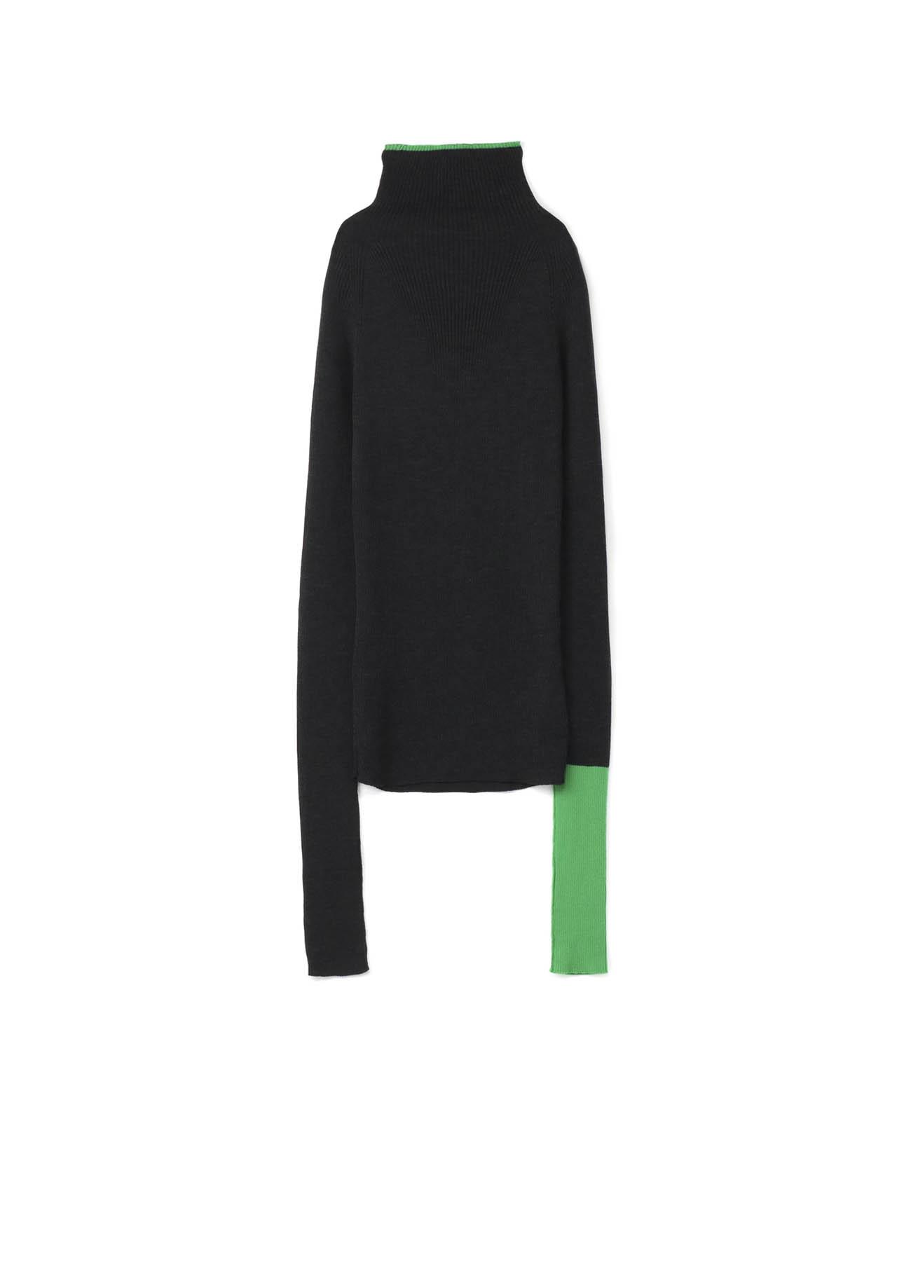 RISMATby Y的SUPER 140强力罗纹罗纹针织高领套头衫