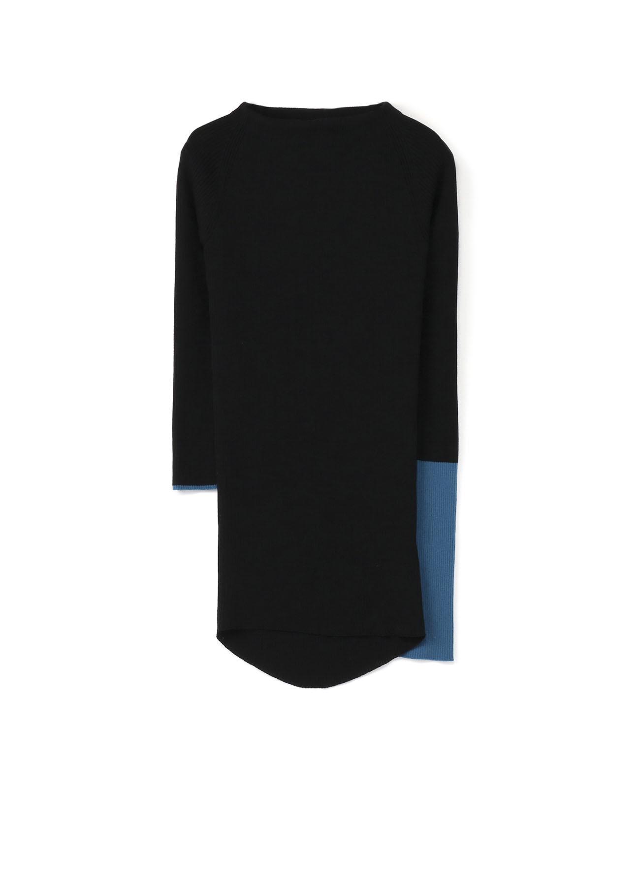 RISMATbyY的SUPER140强力肋骨圆领套头衫