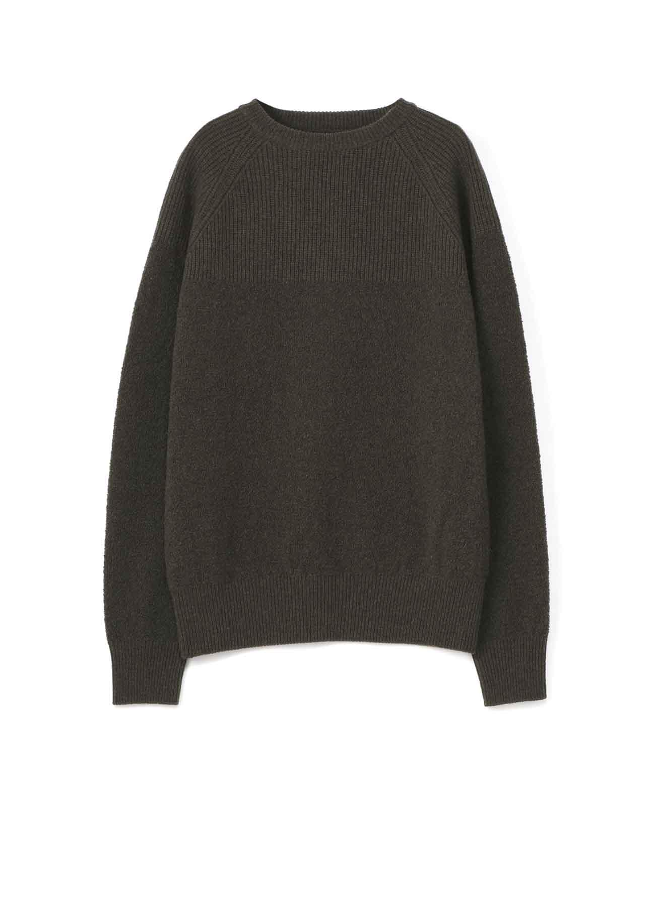 RISMATbyY这款羊毛钩编圆领bouclé改变套头衫