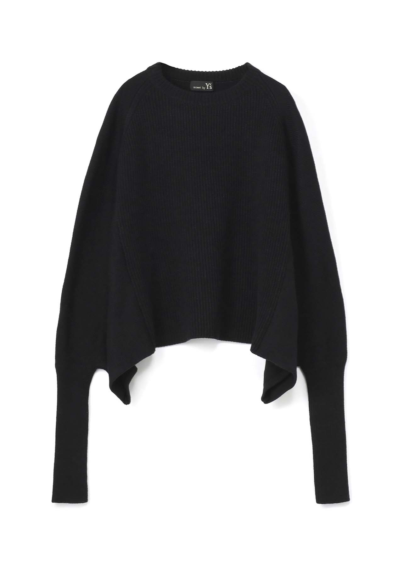 RISMATbyY的多层混合单针织袋开缝变形套衫