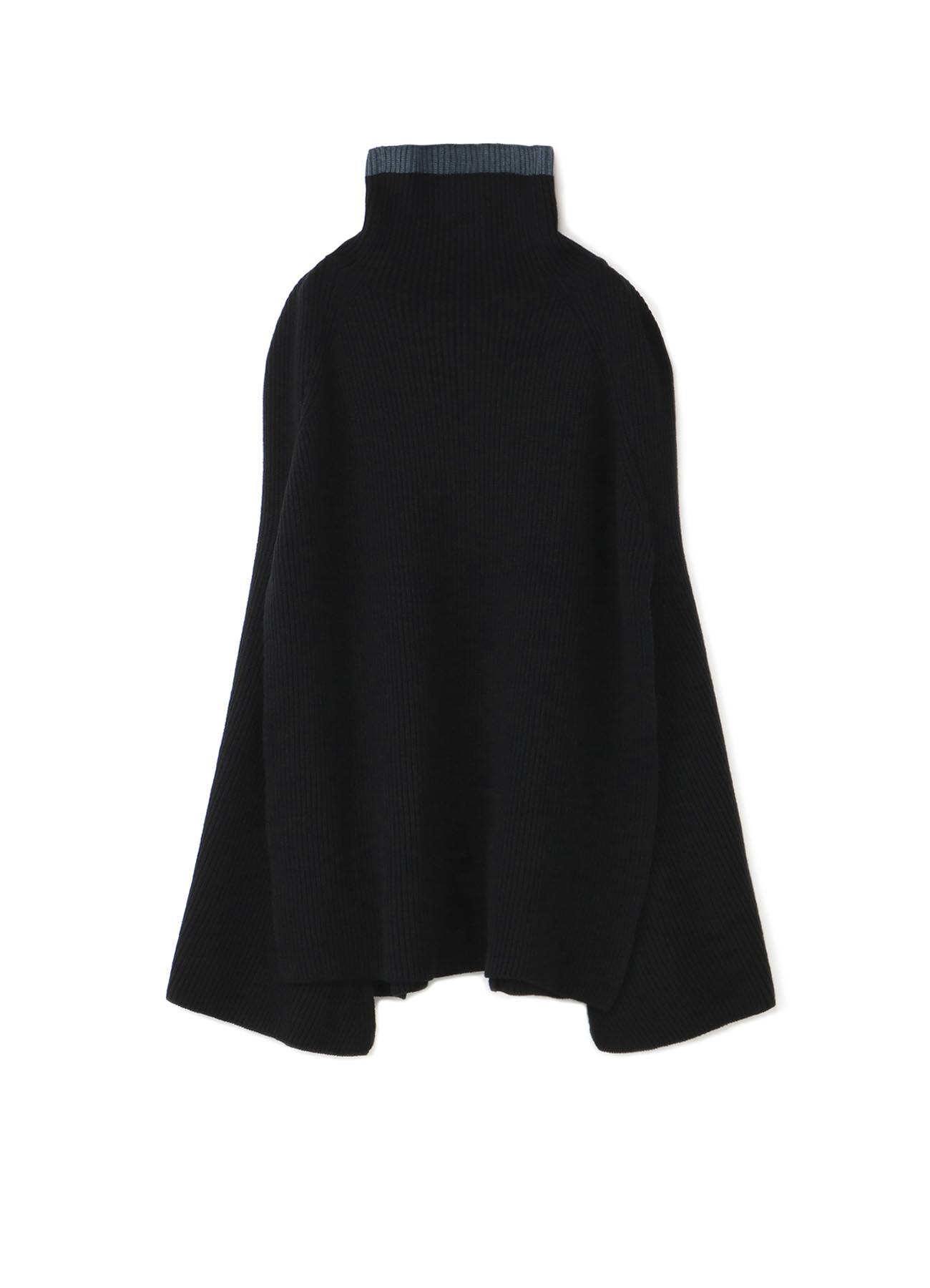 RISMATbyY's 高领斗篷毛衣