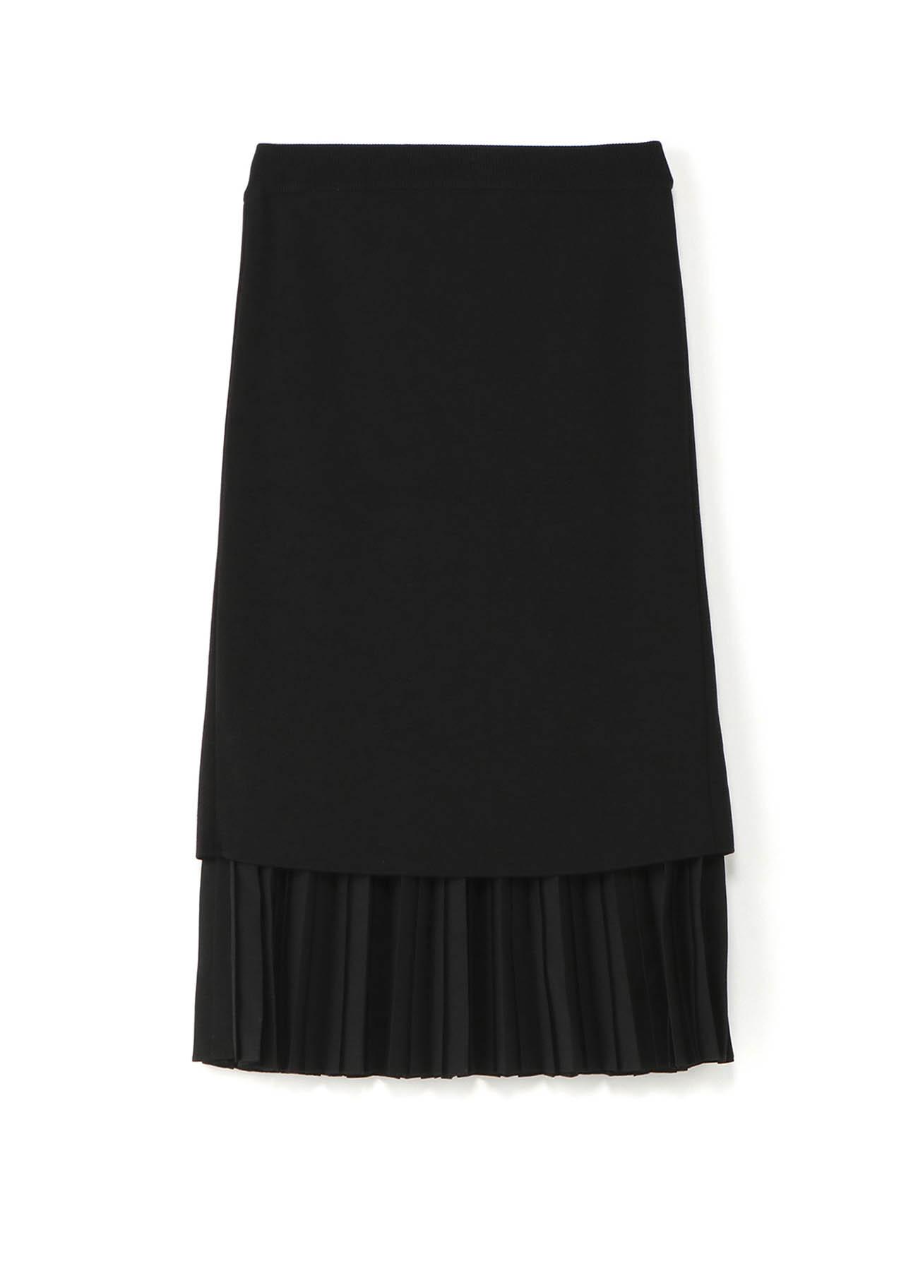 RISMATbyY's ニットxプリーツ バックスリットスカート