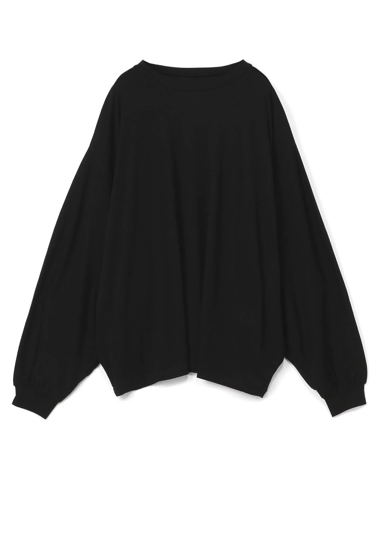 棉质人造丝天狗双袖长袖套头衫