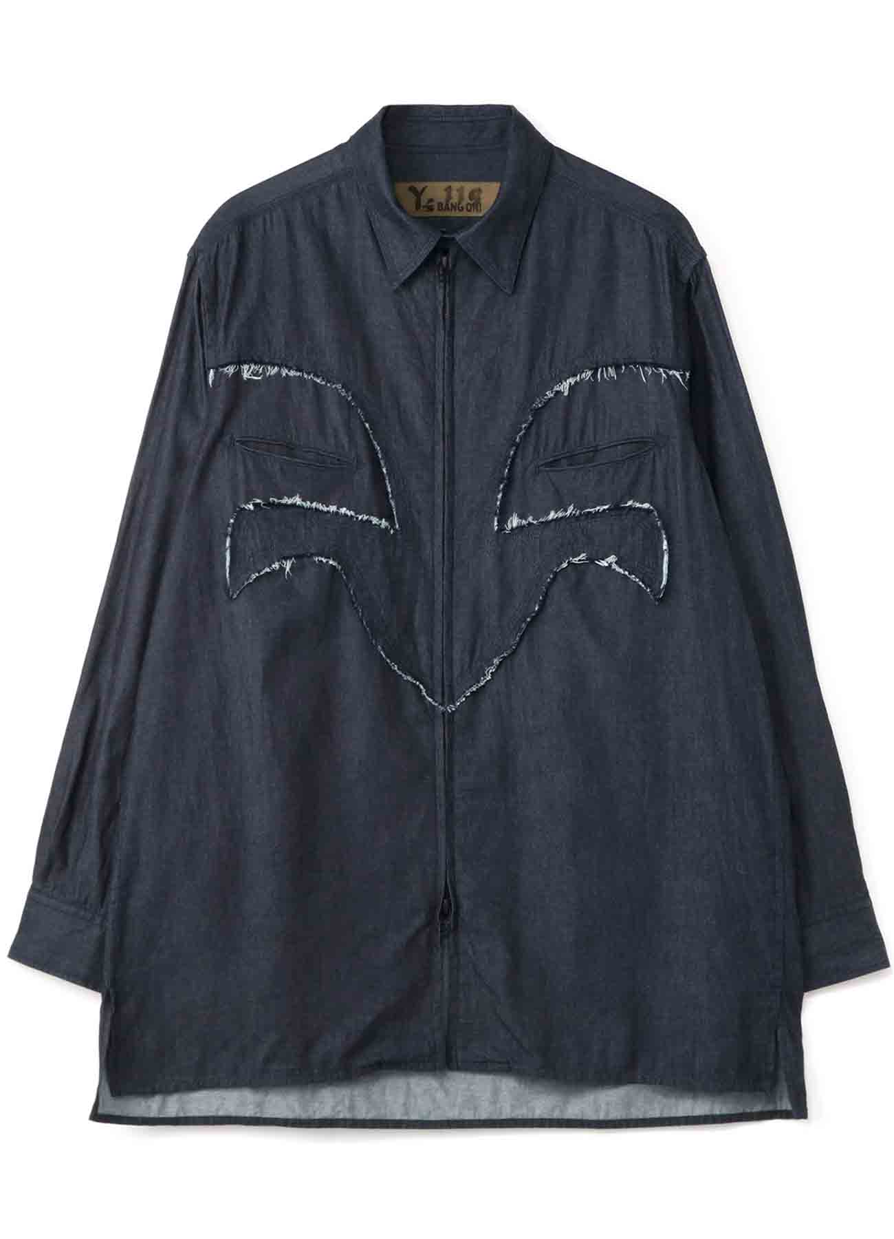 Y's BANG ON!No.119 Western switching-Blouse Light ounces denim