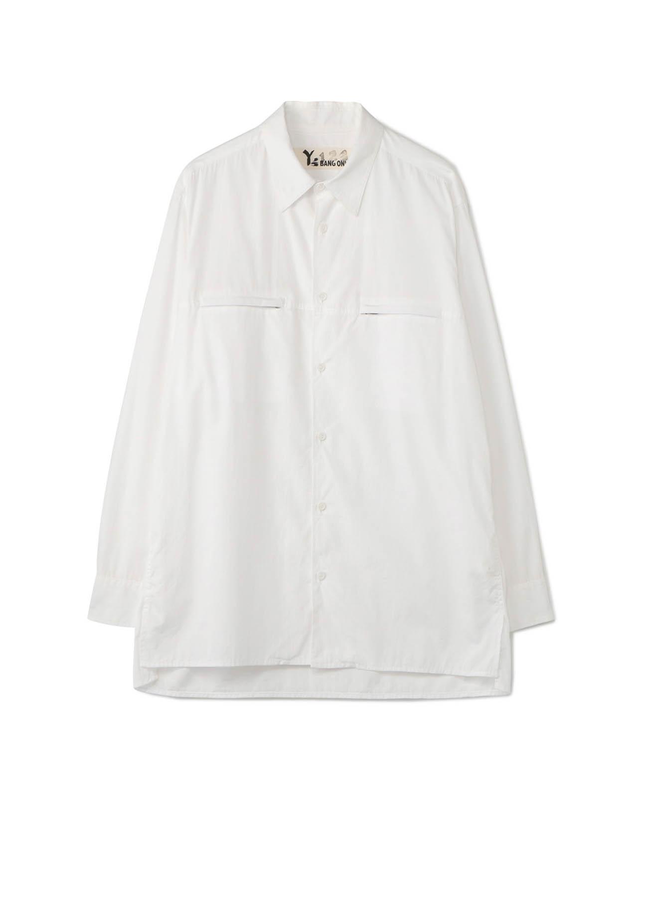 Y's BANG ON!No.123 Zipper pocket-shirts Cotton broad