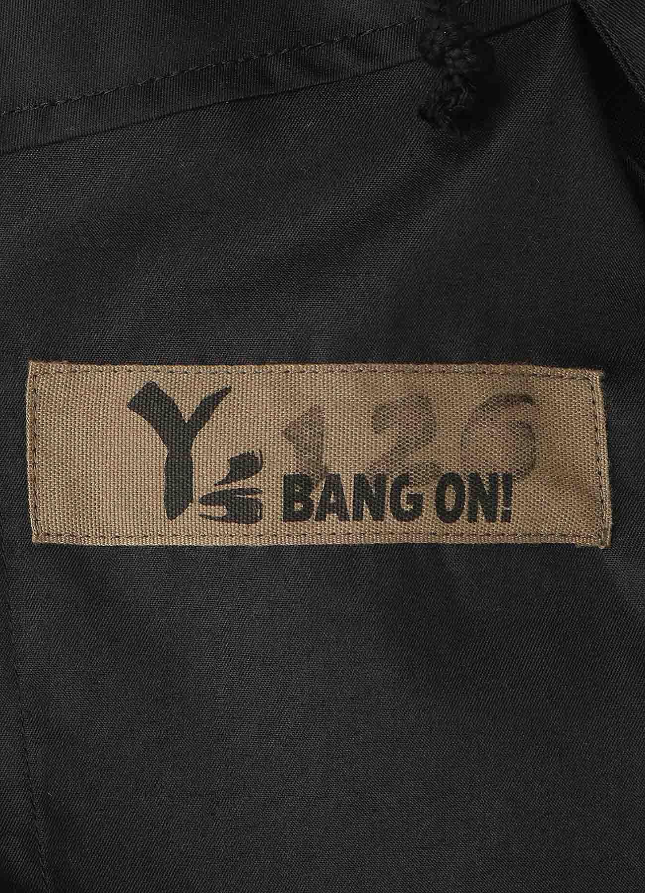 Y's BANG ON!No.126 Hem belt-pants Wool tropical