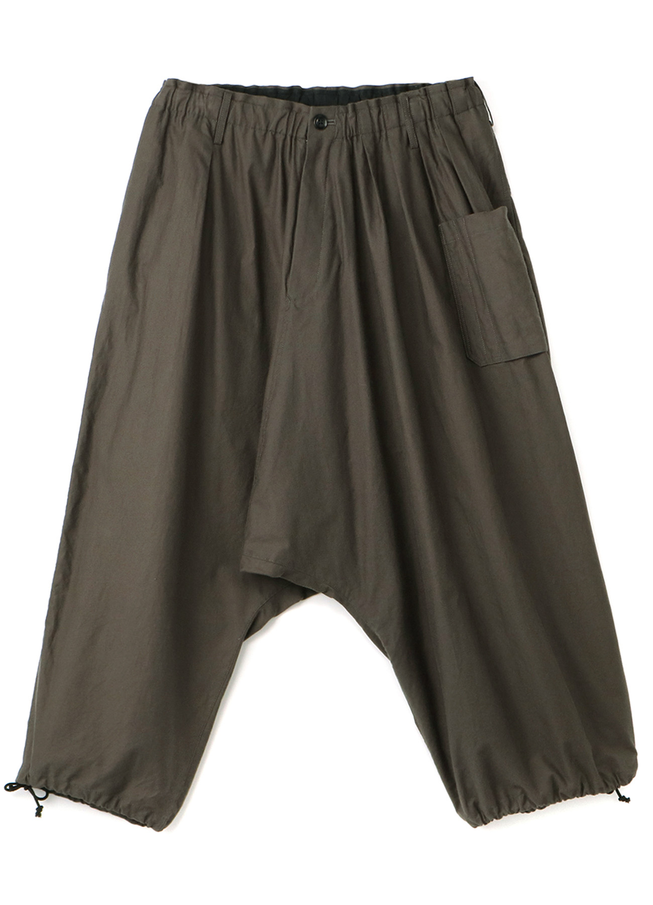 Y's BANG ON!No.127 Asymmetry sarouel-pants Cotton twill