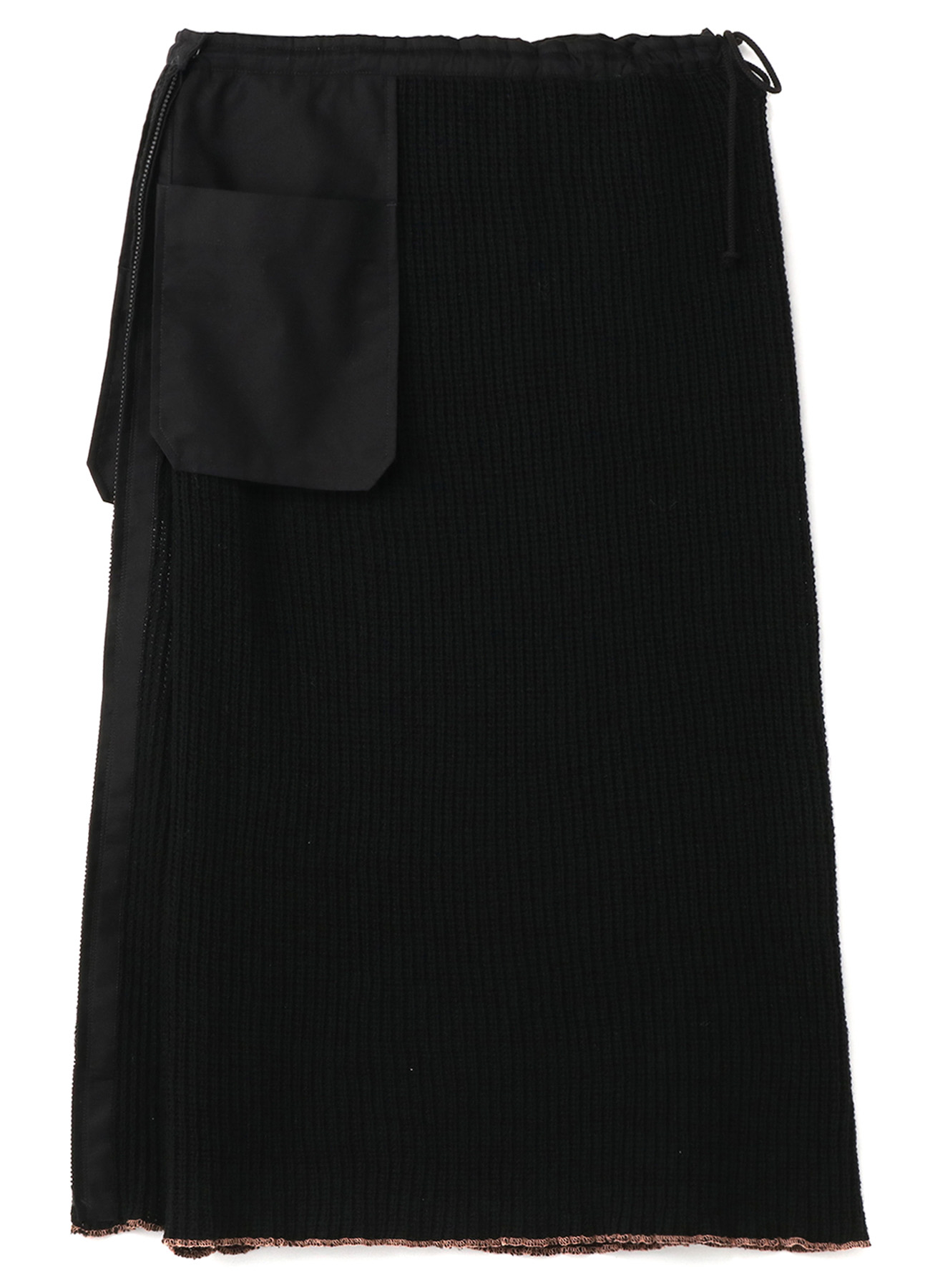 Y's BANG ON!No.130 Wrap knit-skirt