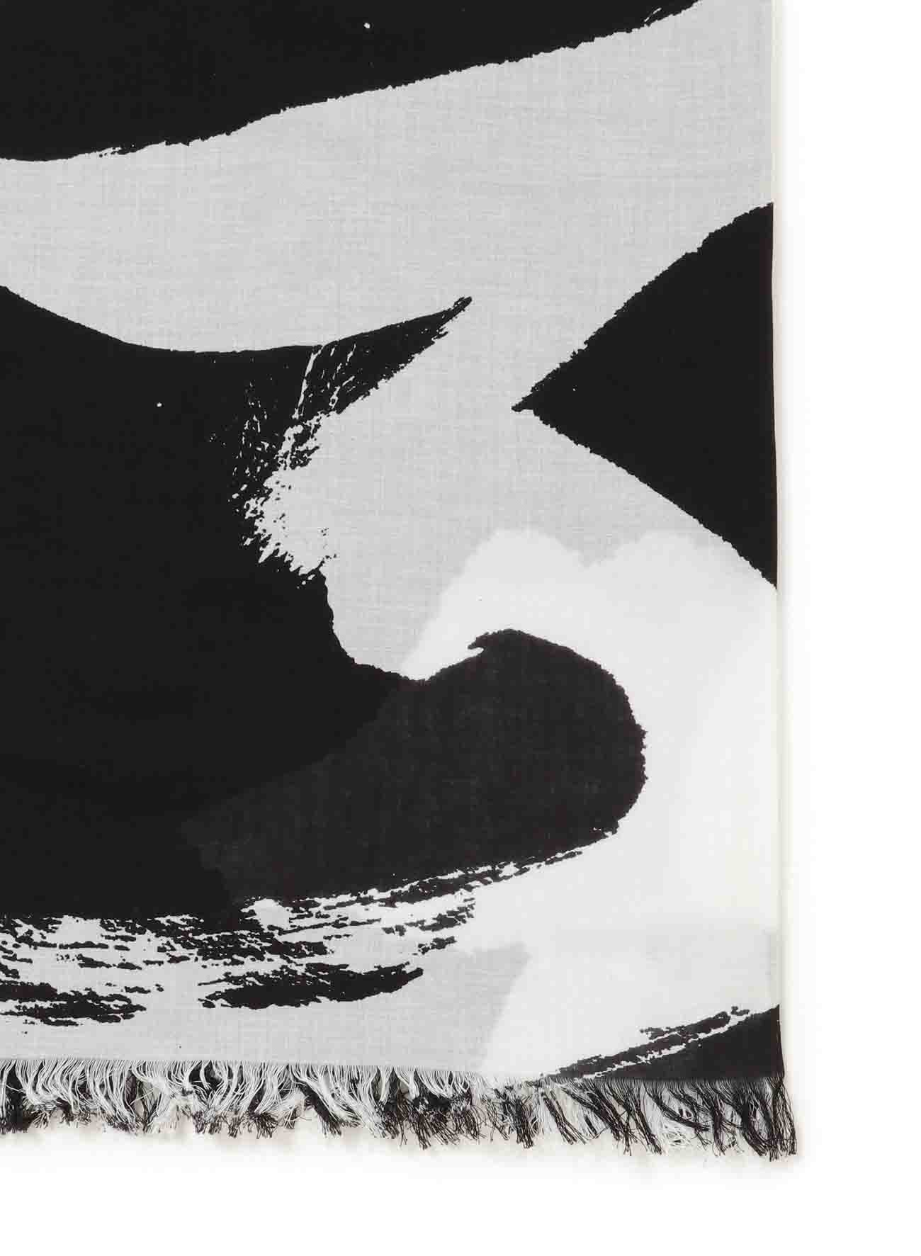 CALLIGRAPHY PRINT BIG COTTON STOLE
