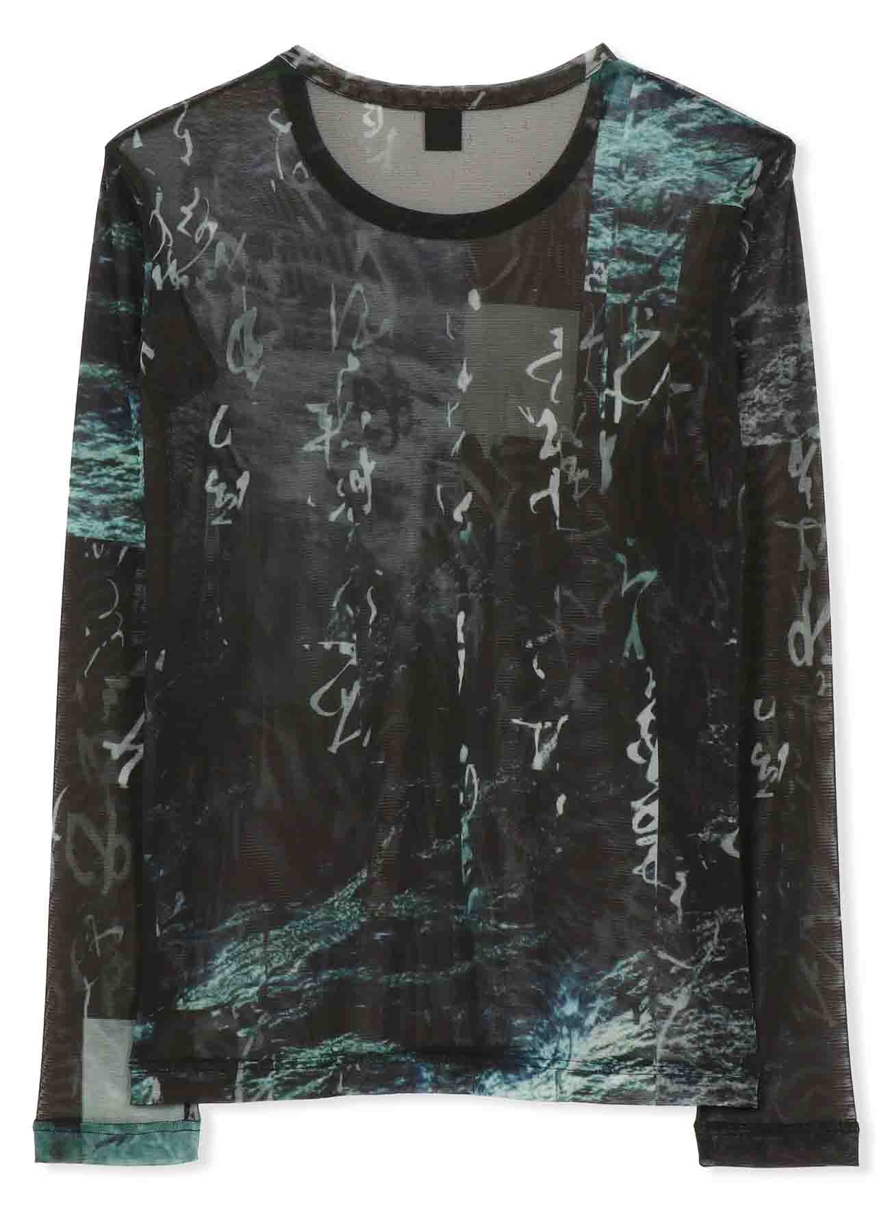 Pe TULLE CALLIGRAPHY TOTAL PATTERN LONG SLEEVE