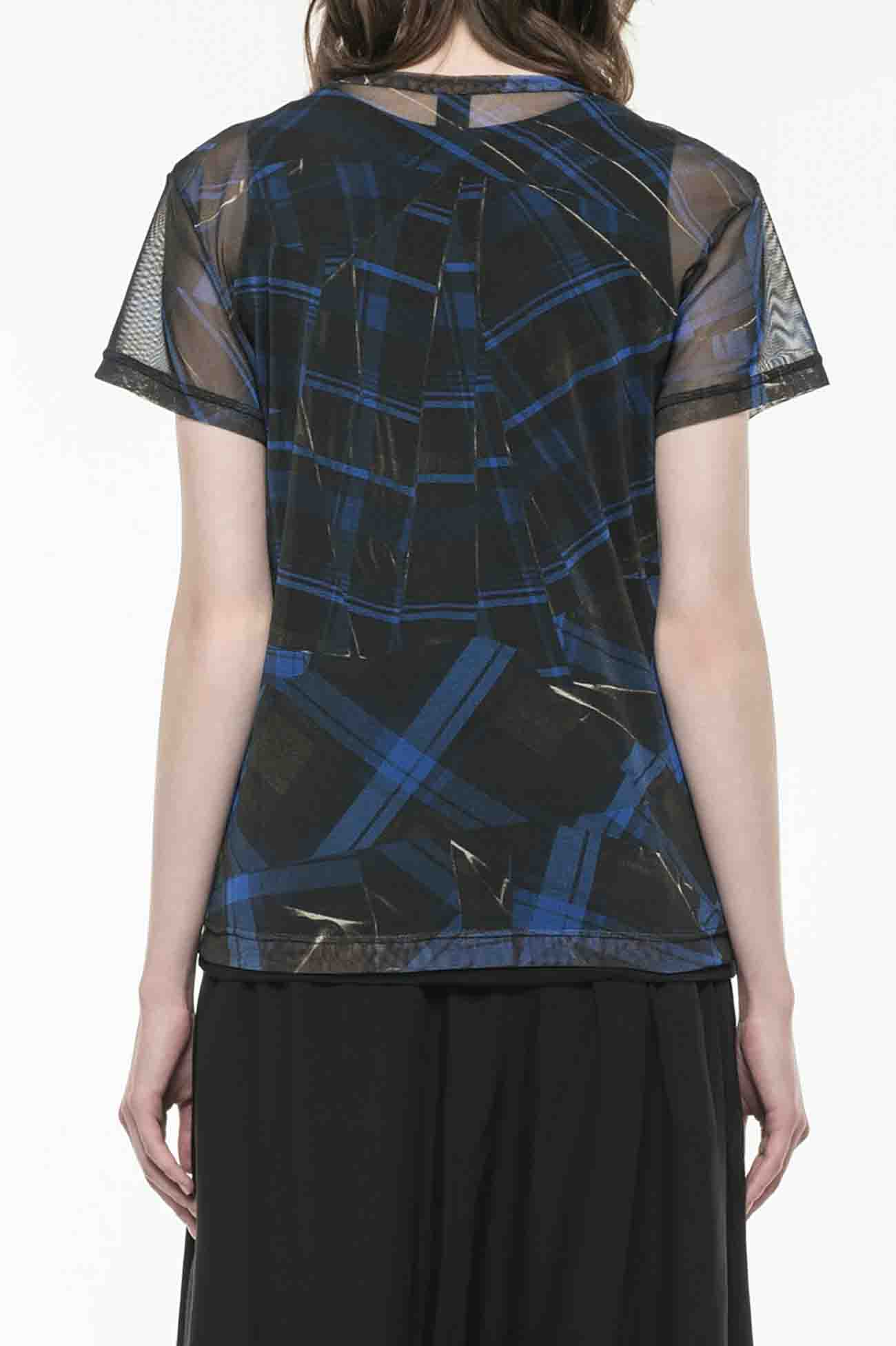 PeTULLE COLLAGE CHECK PRINT SHORT SLEEVE