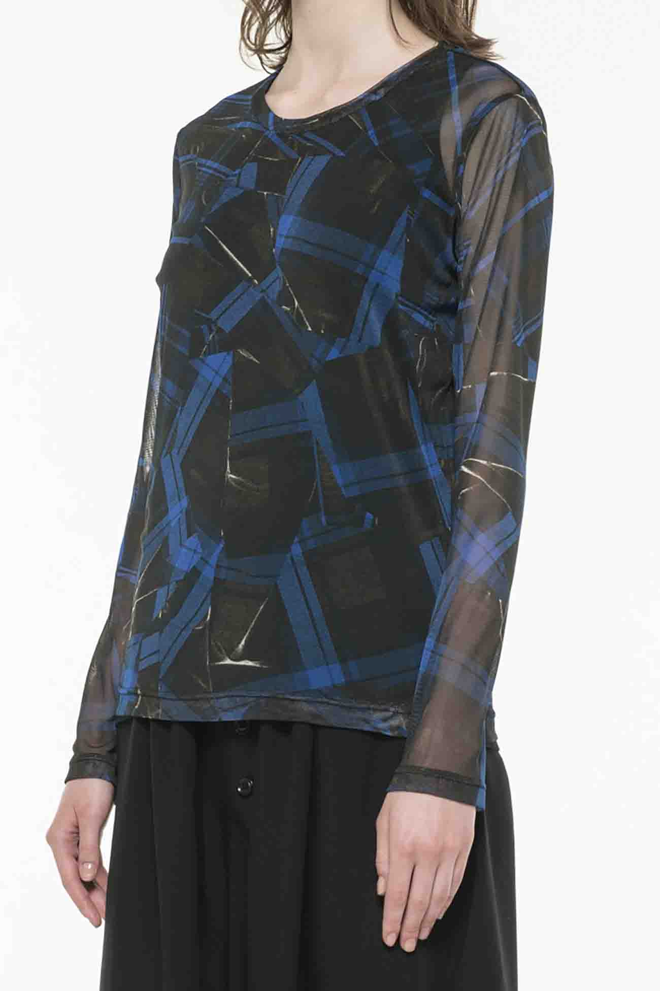 PeTULLE COLLAGE CHECK PRINT LONG SLEEVE