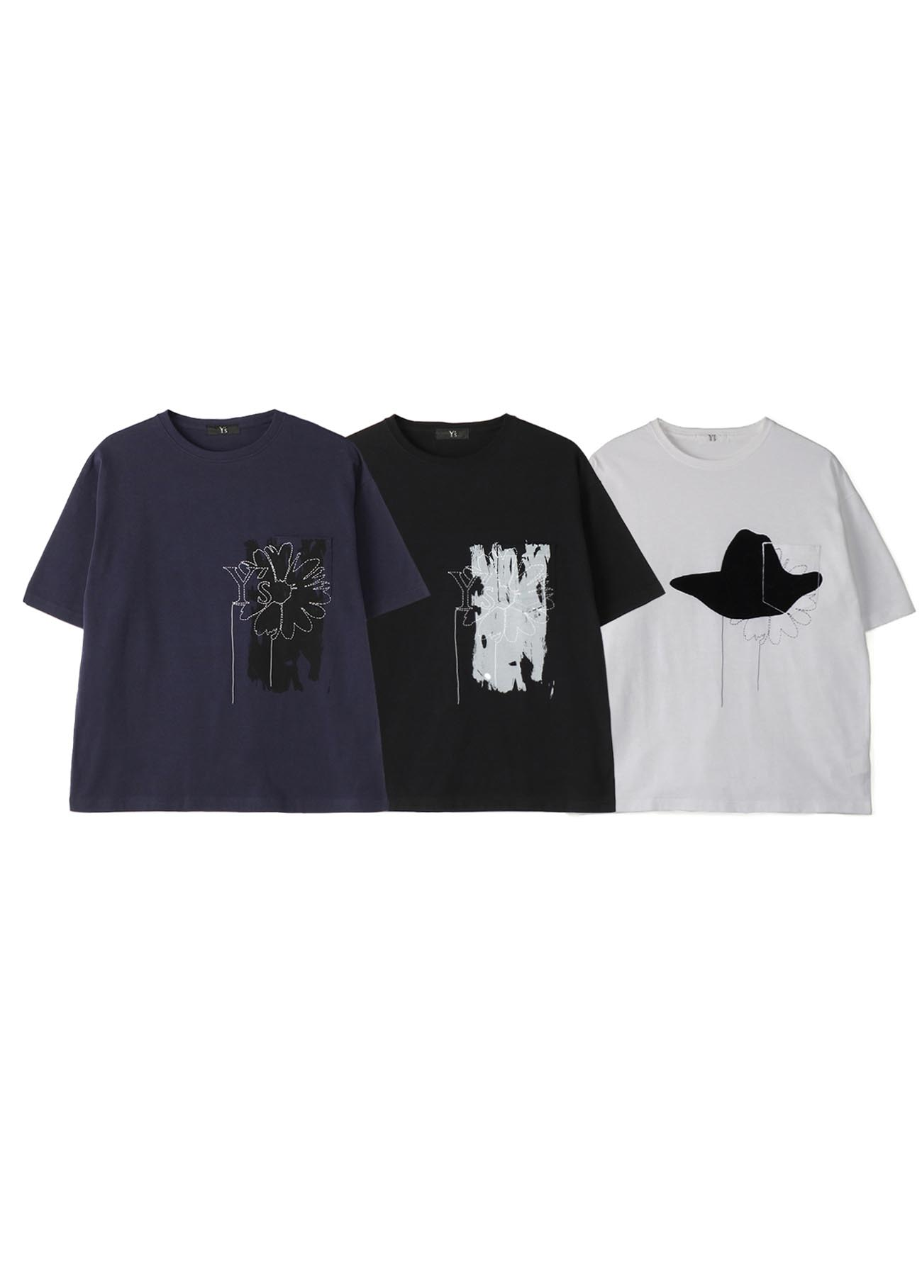 【Online Limited product】 Y's Floral T-shirt