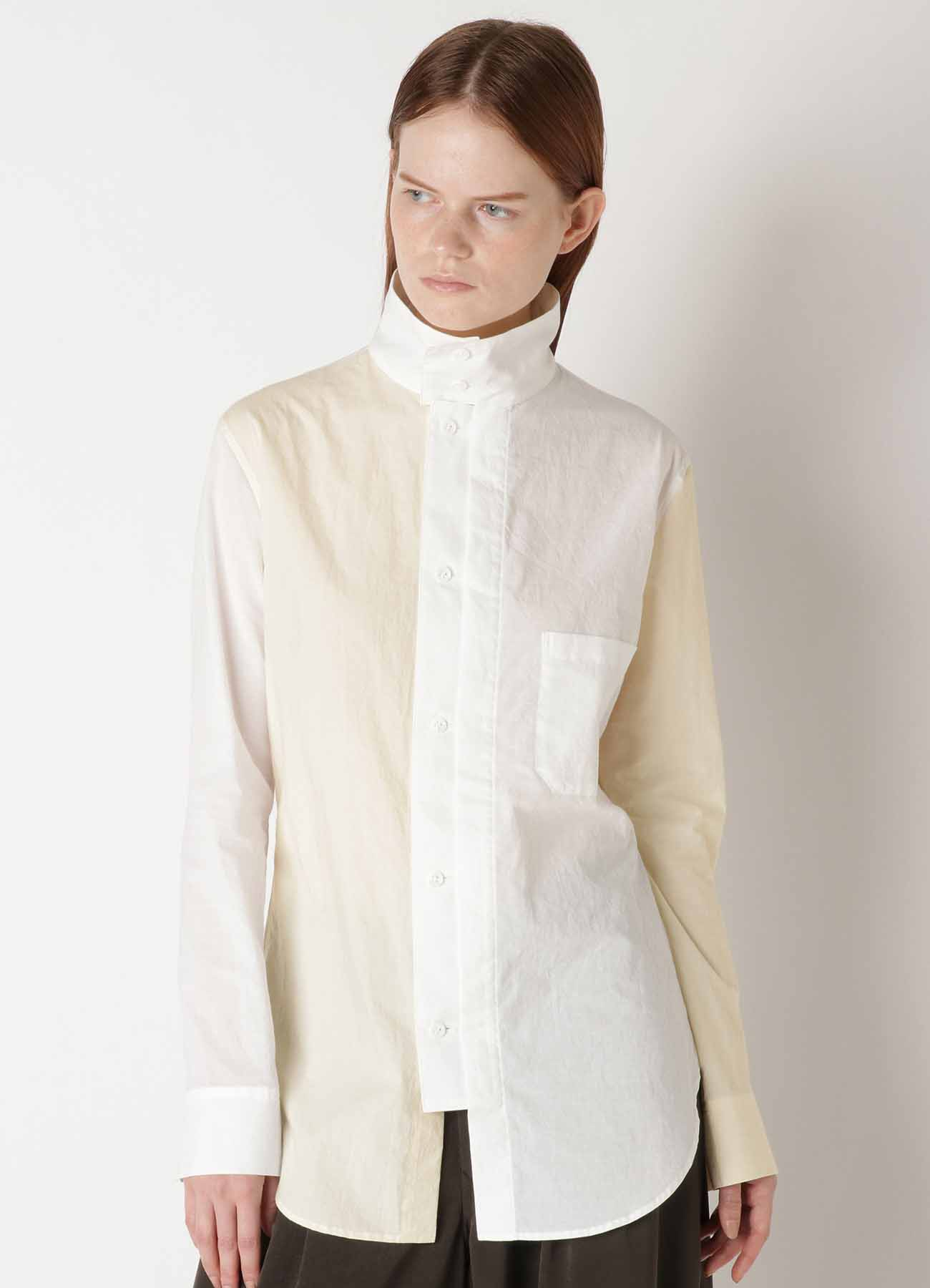 60 LAWN POWDER SNOW WASHER FRONT OPEN SQUARE BLOUSE