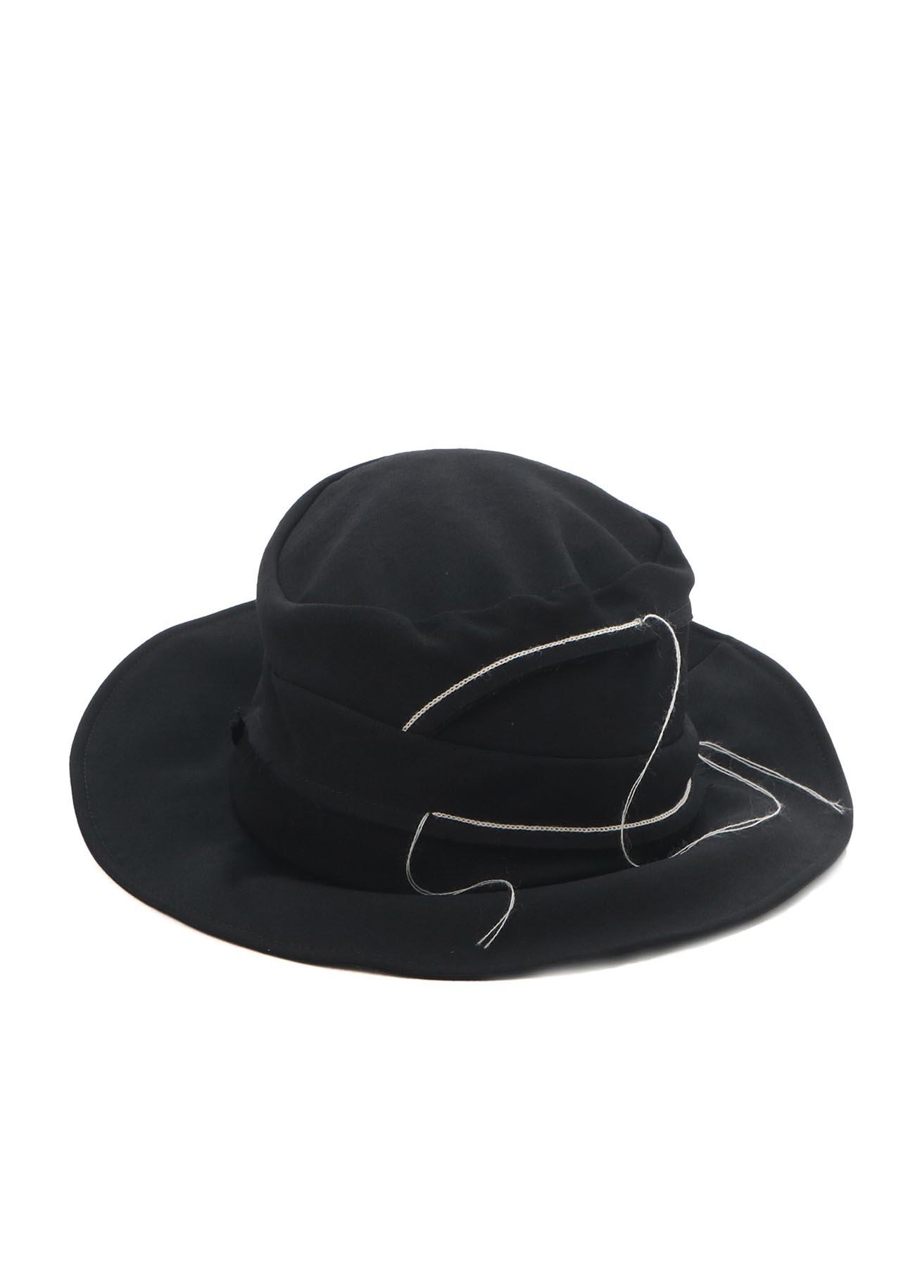 WOOL GABARDINE CHAIN STITCH HAT