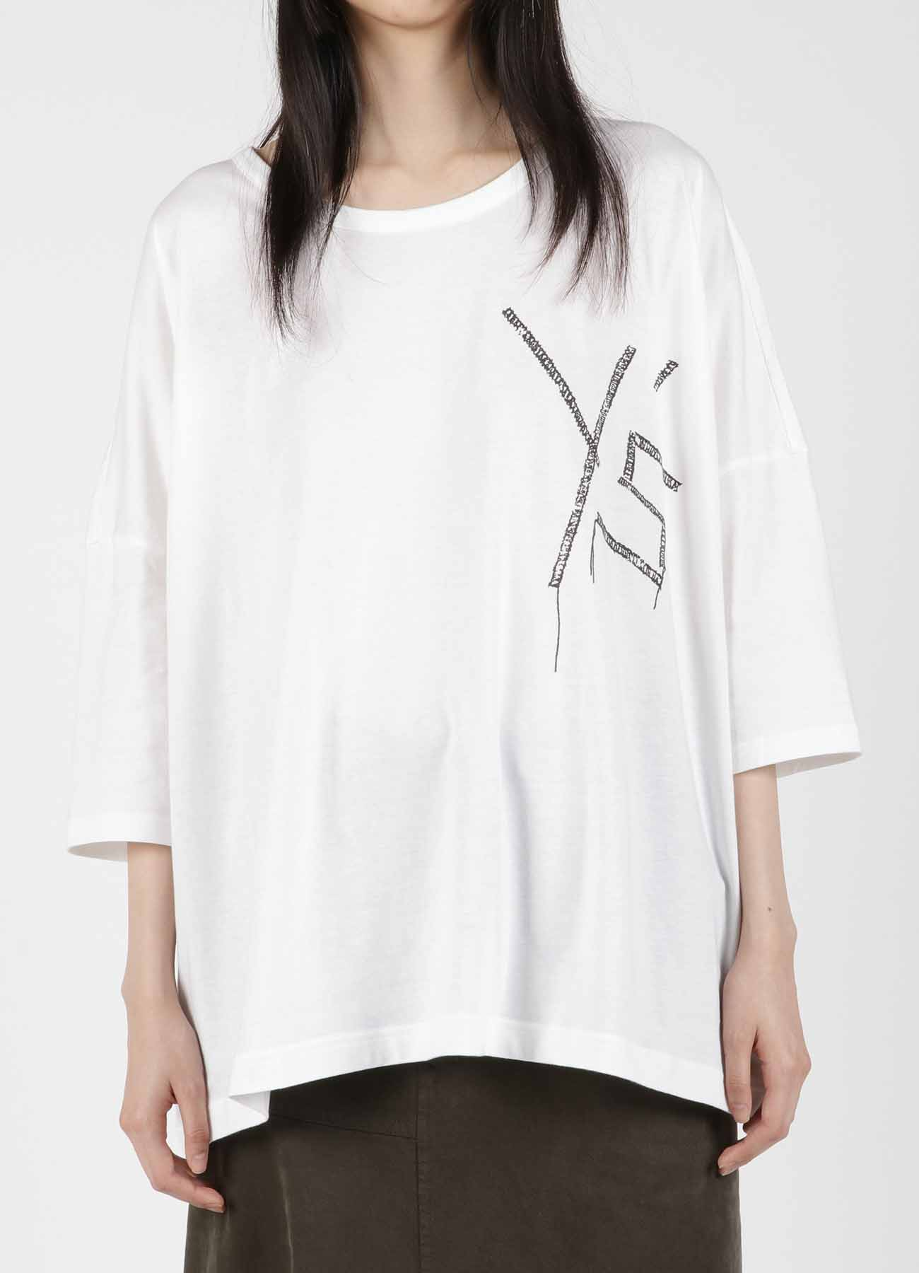 EMBROIDERY FIRE PRINT BIG/T