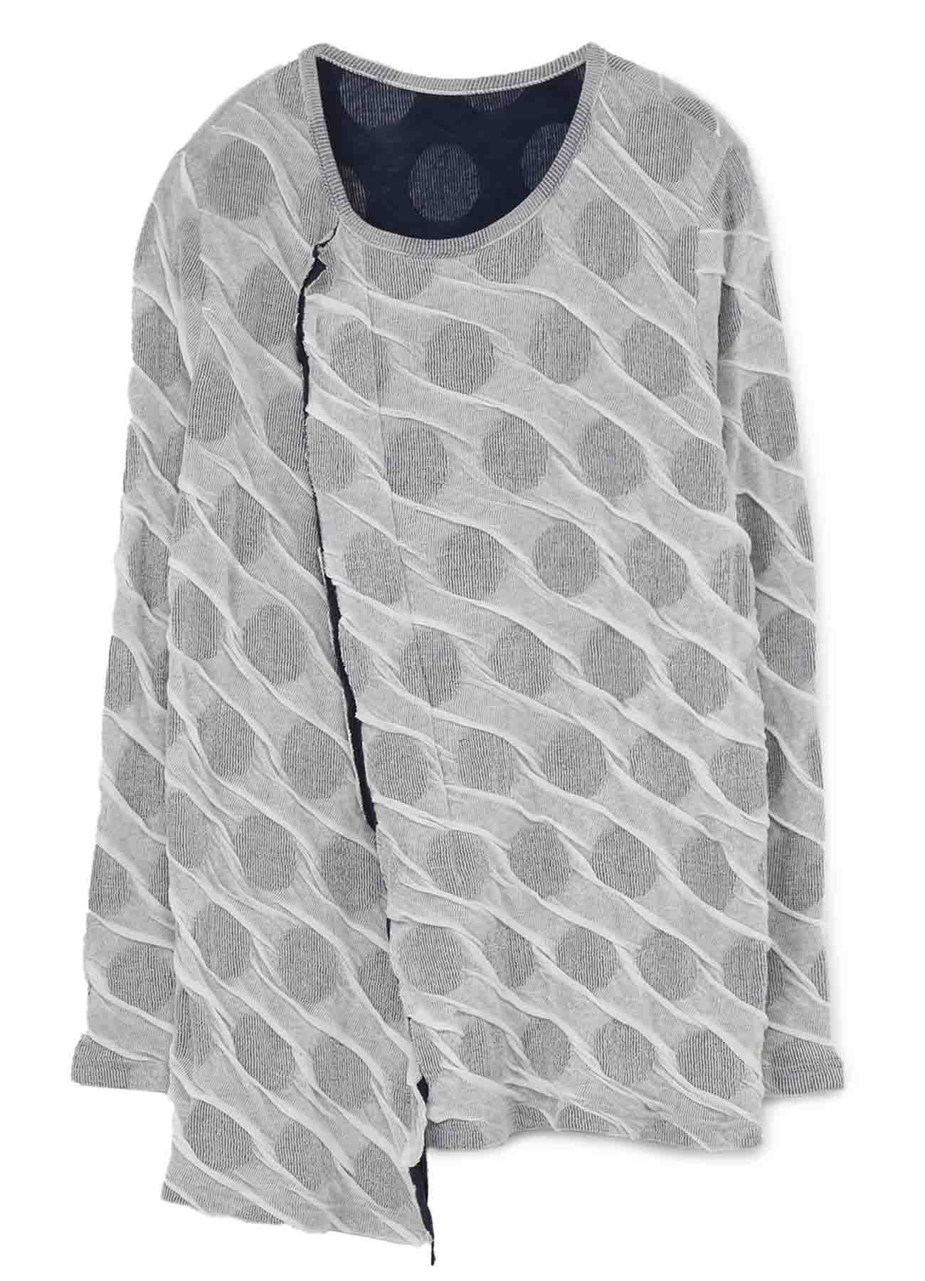 DOT DUAL-LAYER ROUND NECK CUTTING T