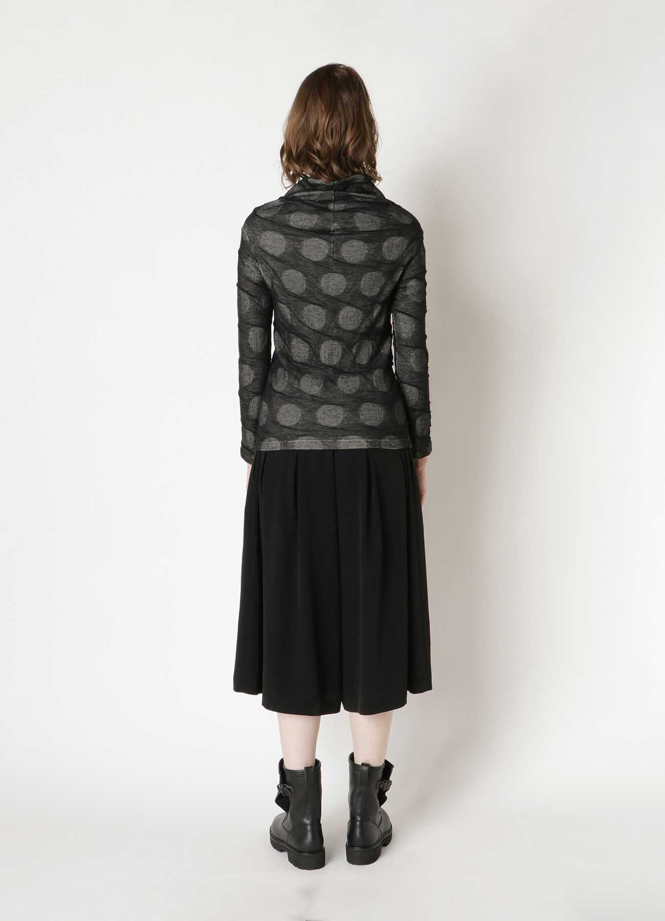 DOT DUAL-LAYER FROMT FLARE CARDIGAN