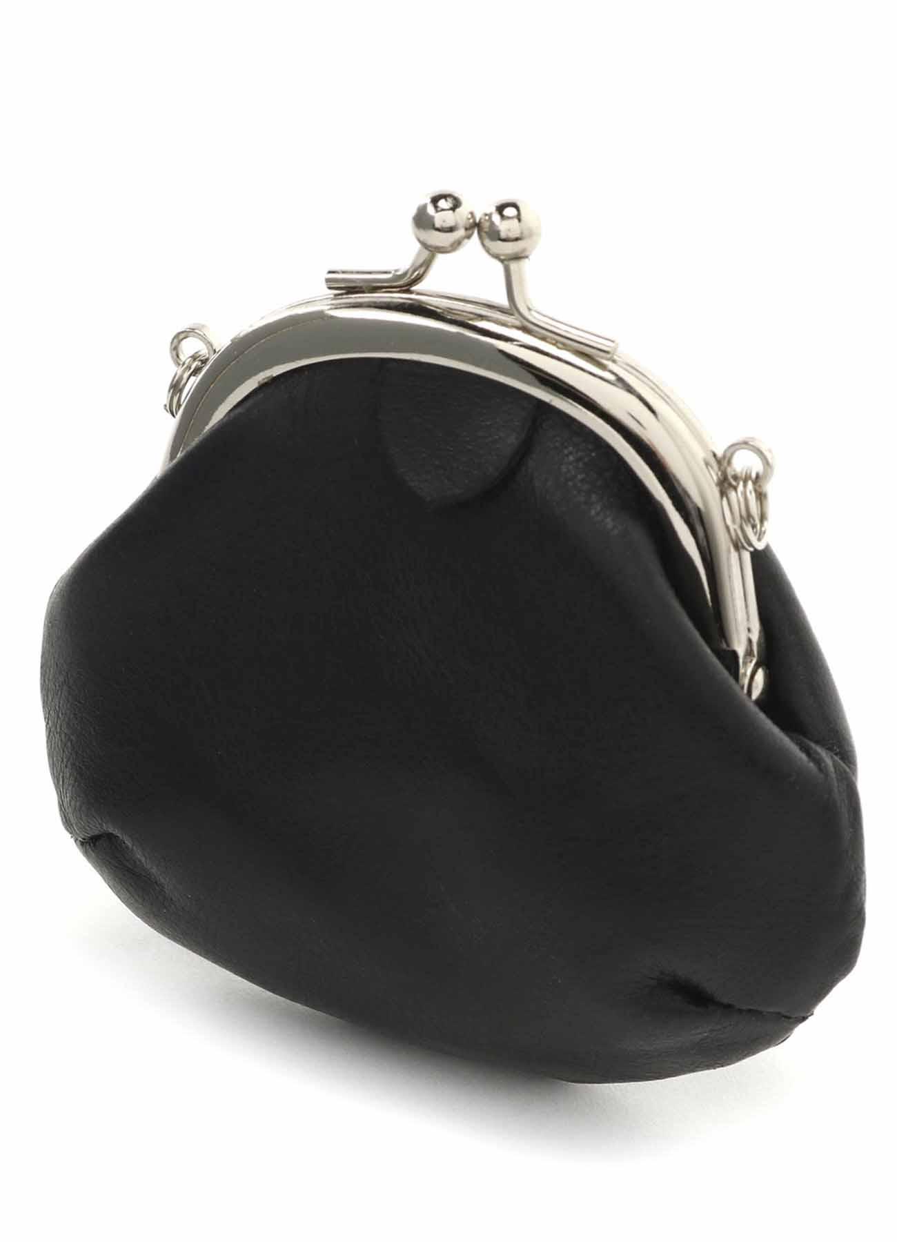 皮革口金包项链·圆角款