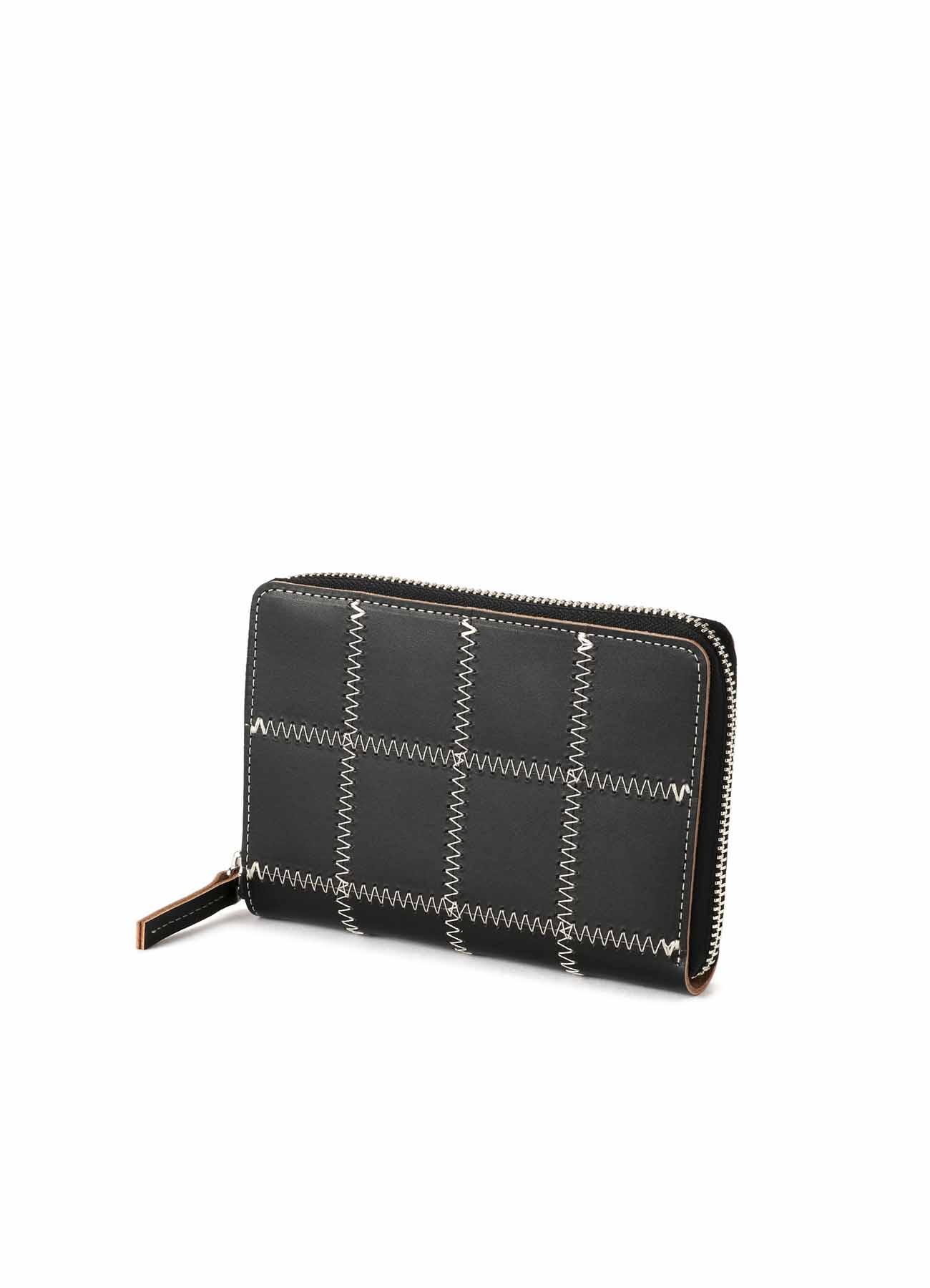 パッチワークレザー 三方ファスナー財布